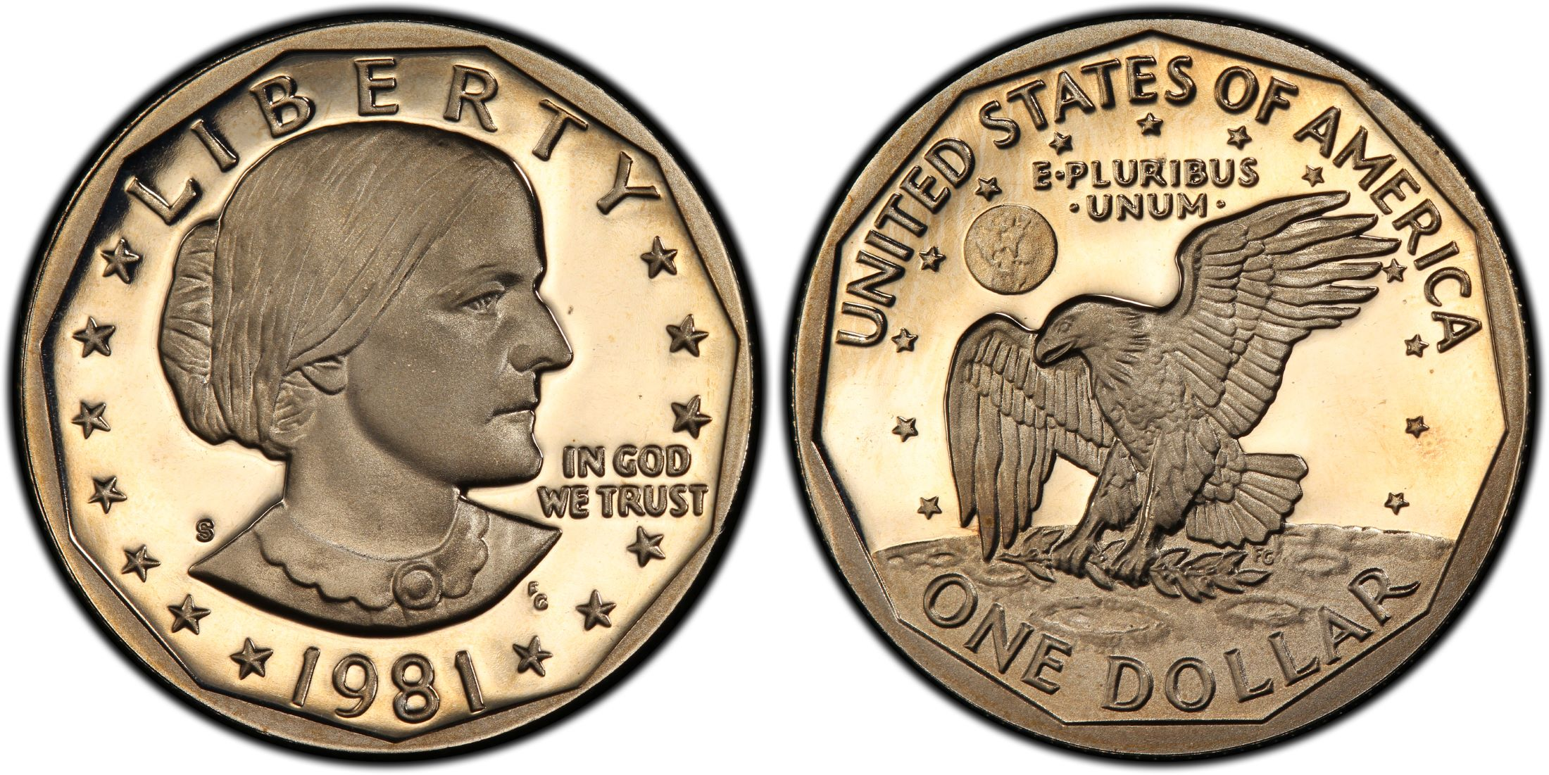 1981-S SBA$1 Type 2, DC (Proof) - PCGS CoinFacts