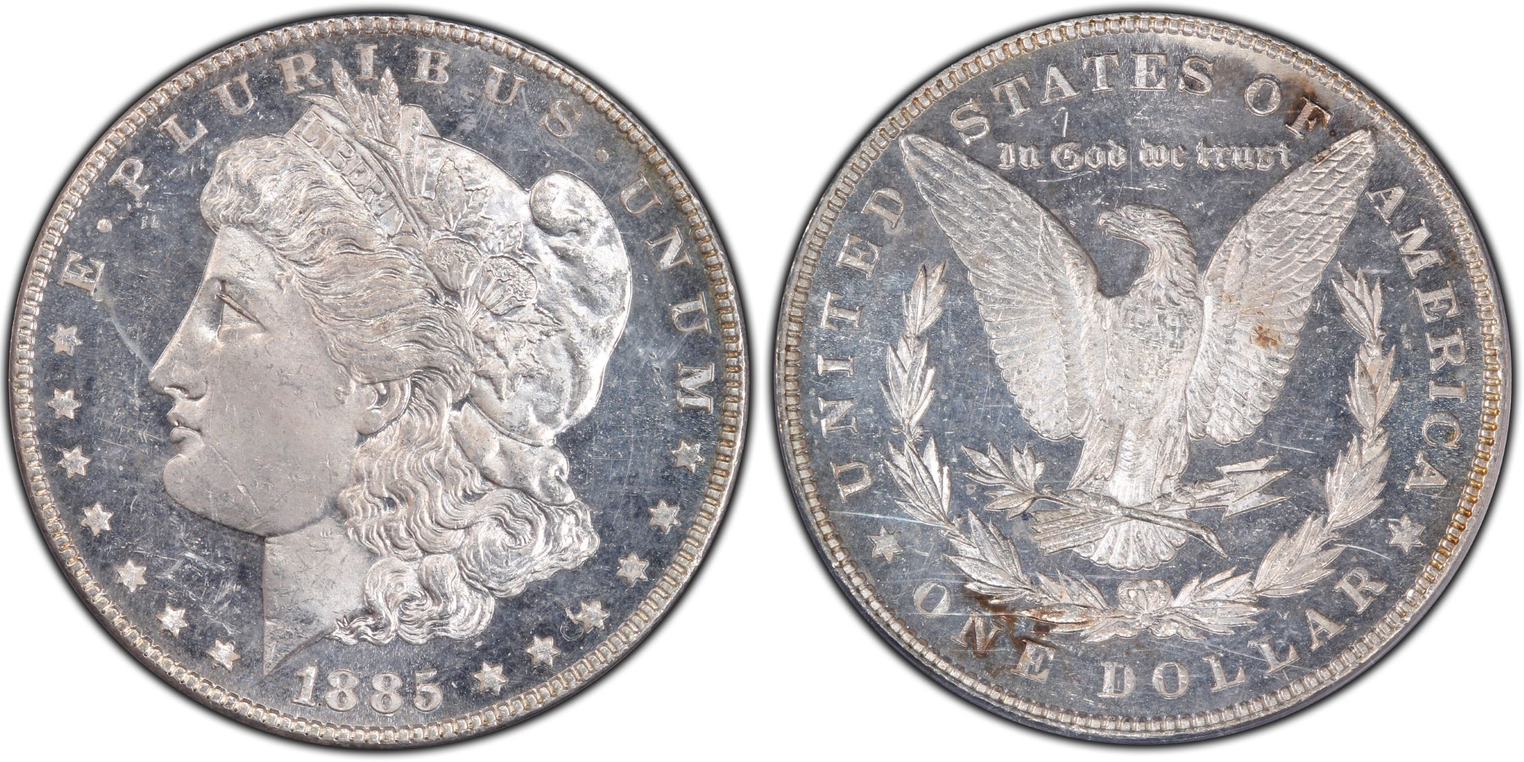 1885 $1 VAM 22 Dash, DM (Regular Strike) - PCGS CoinFacts