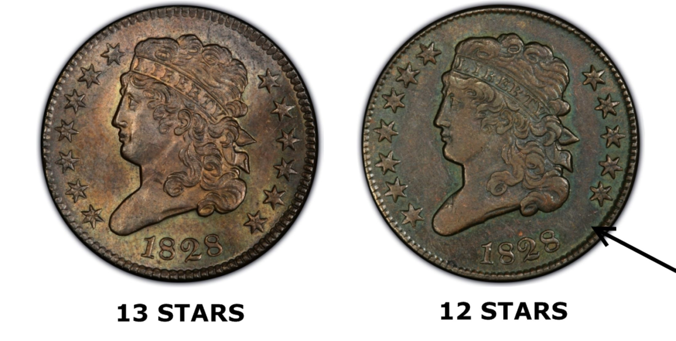 1828 12c 12 stars bn regular strike pcgs coinfacts 13 vs 12 stars publicscrutiny Image collections