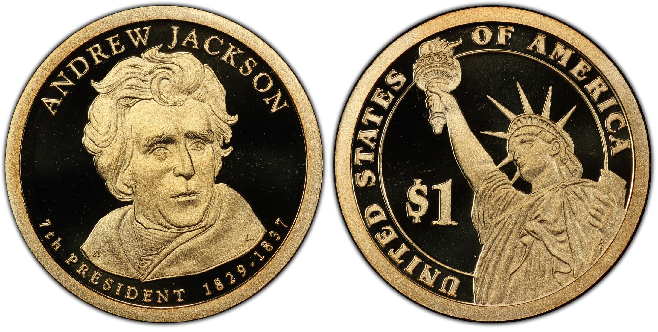 2008 S 1 Andrew Jackson DC Proof PCGS CoinFacts