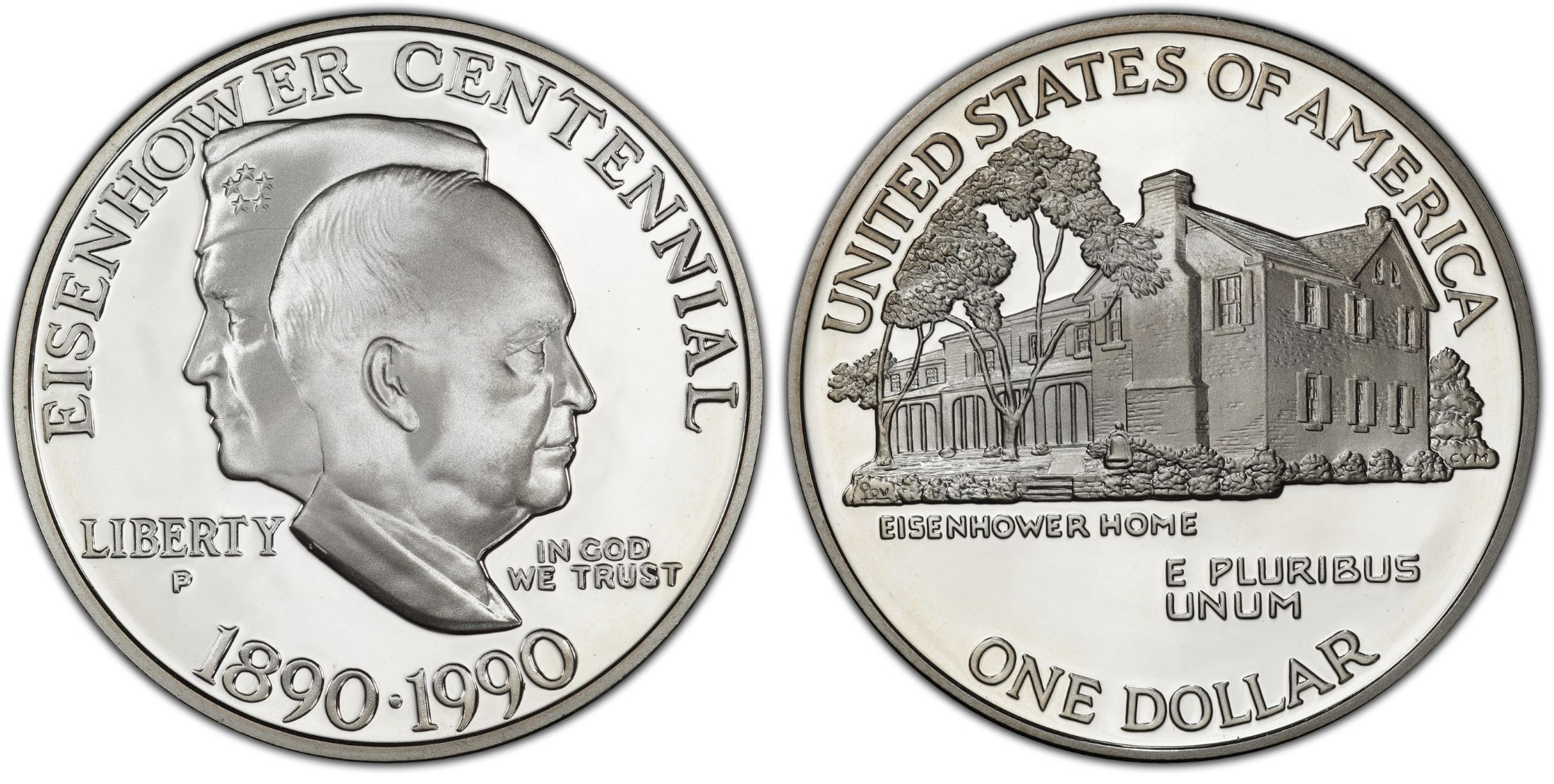 1990-P $1 Eisenhower, DC (Proof) - PCGS CoinFacts