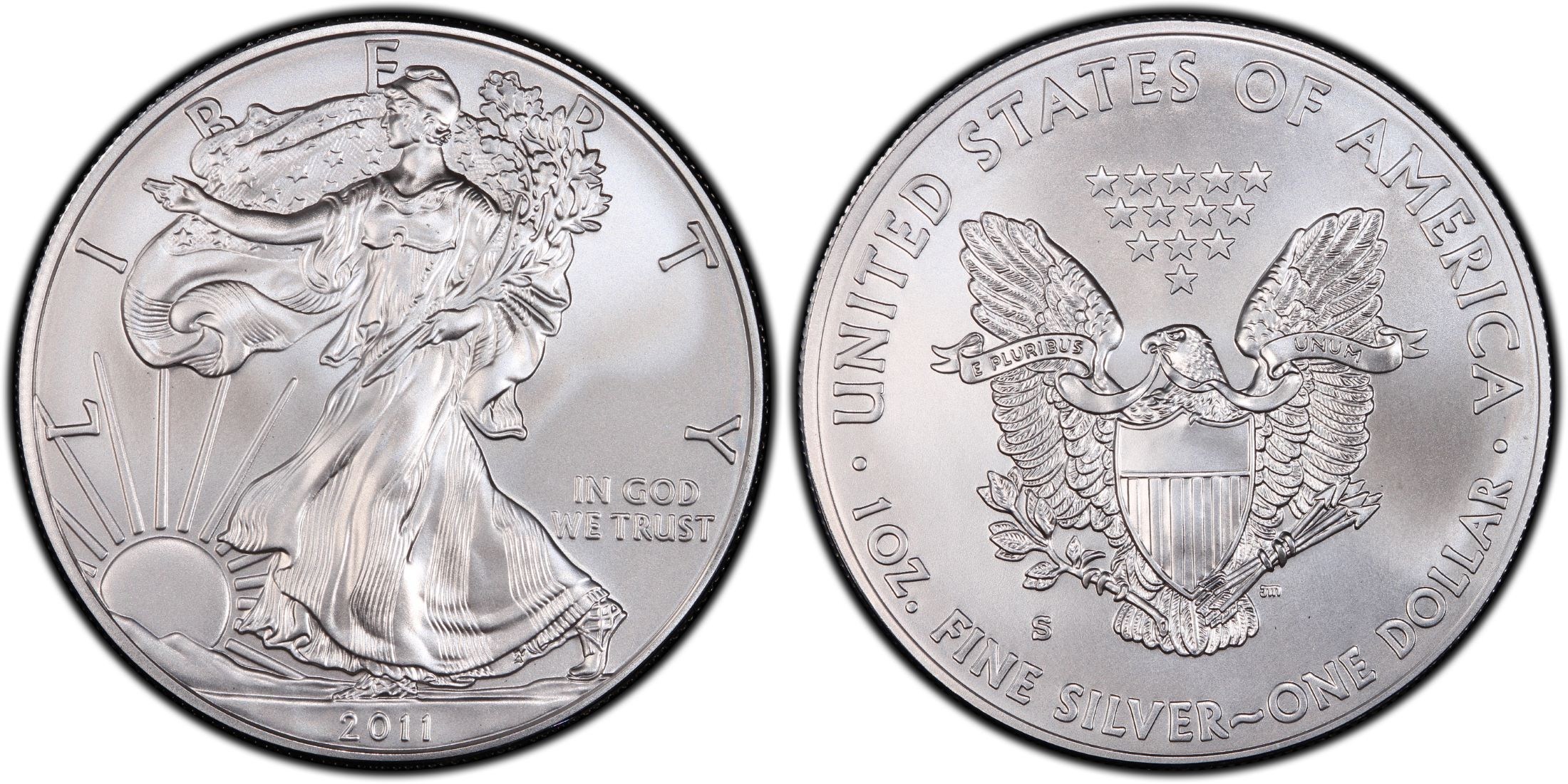 2011-S $1 Silver Eagle 25th Anniversary Set First Strike (Regular2200