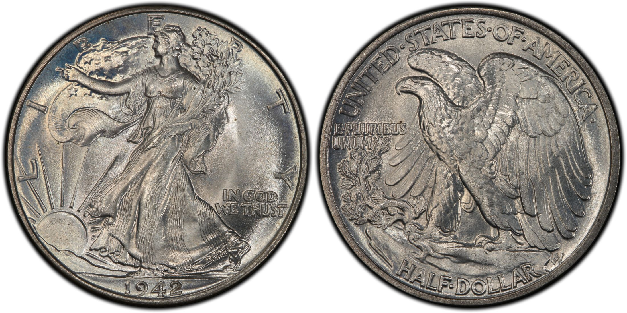 1942 50C (Regular Strike) - PCGS CoinFacts