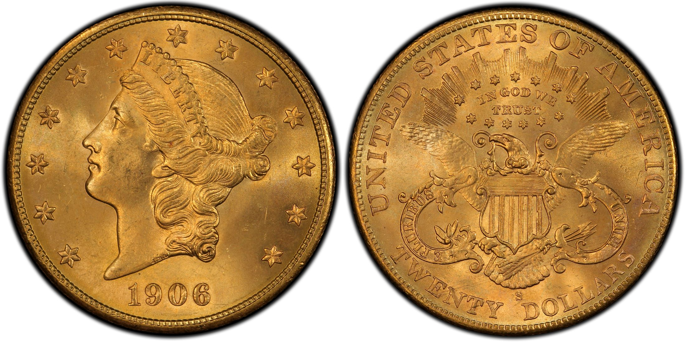 1906-S $20 (Regular Strike) - PCGS CoinFacts