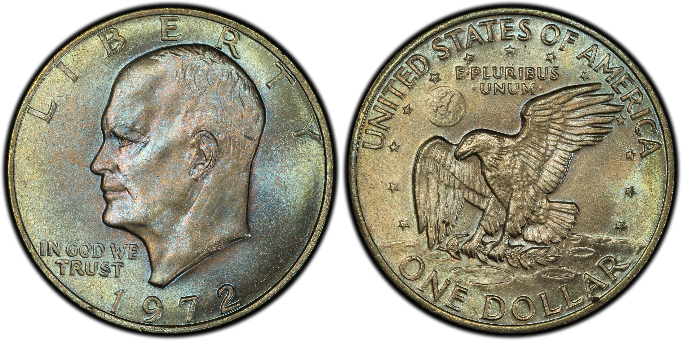1972 1 Type 2 Regular Strike Pcgs Coinfacts