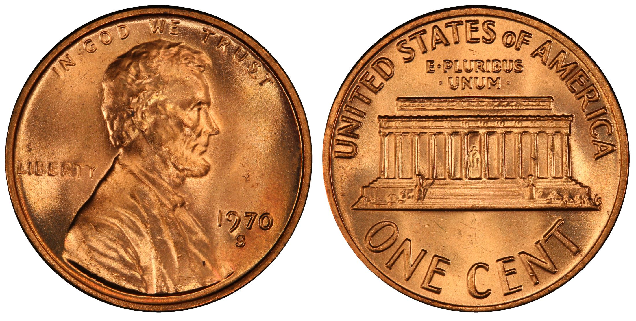 1970-S 1C Small Date, RD (Regular Strike) - PCGS CoinFacts