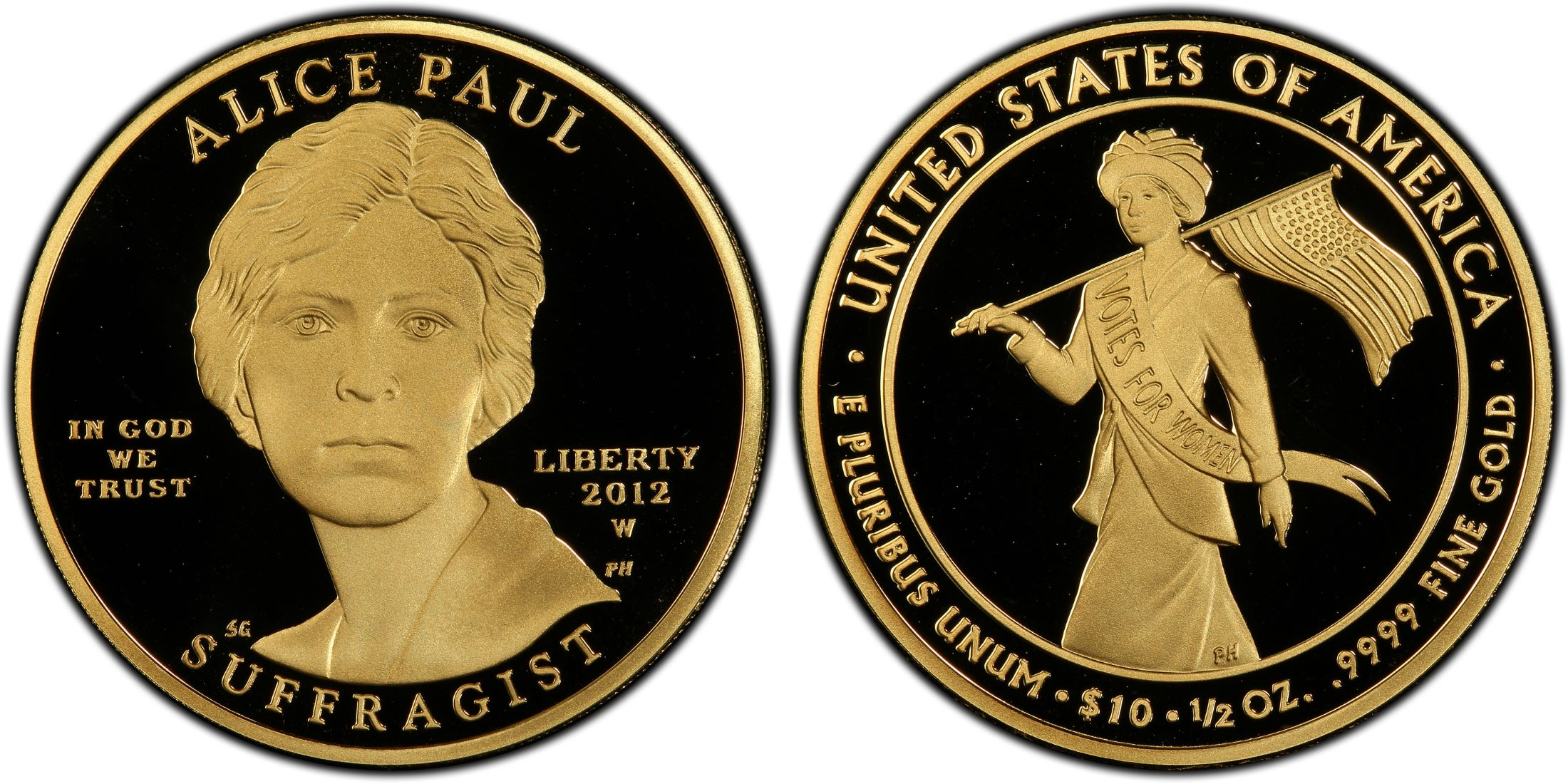 2012-W $10 Alice Paul, DC (Proof) - PCGS CoinFacts