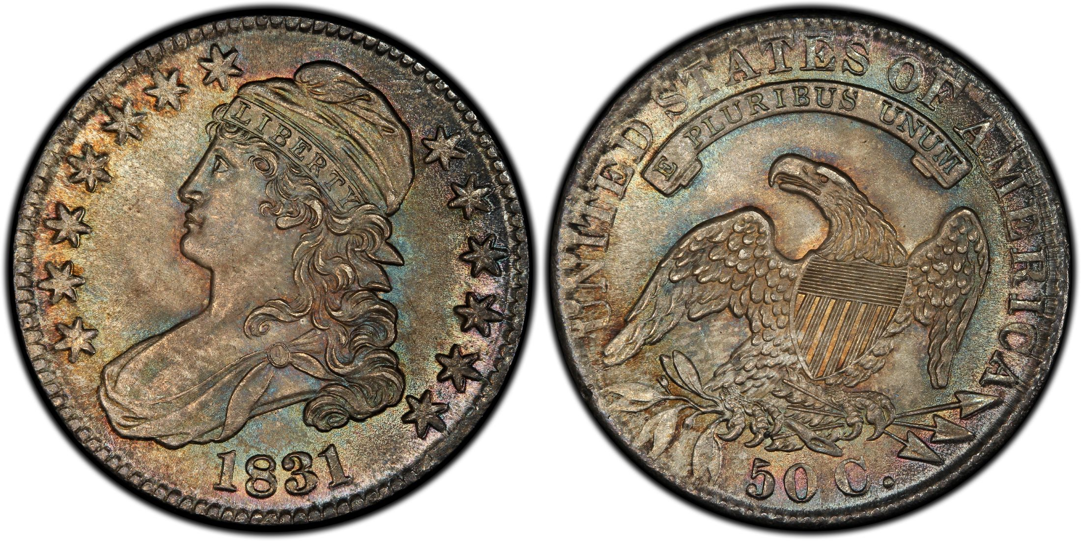 1831 50c Regular Strike Pcgs Coinfacts