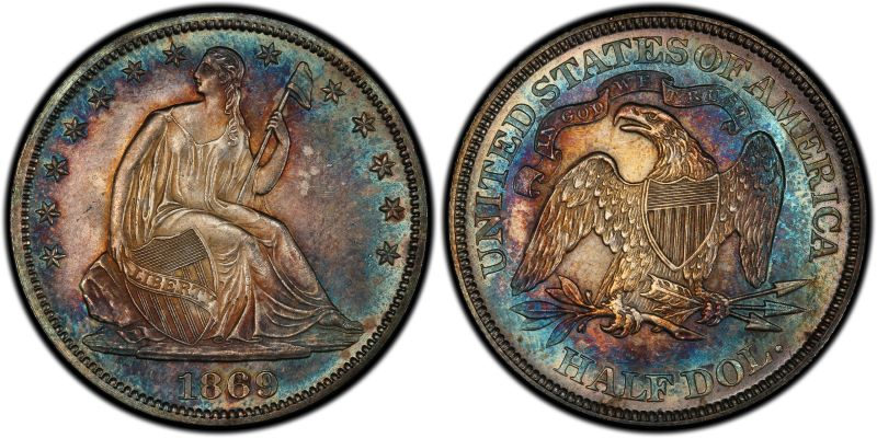 GFRC Open Set Registry - White Pine 1869 Seated  50C