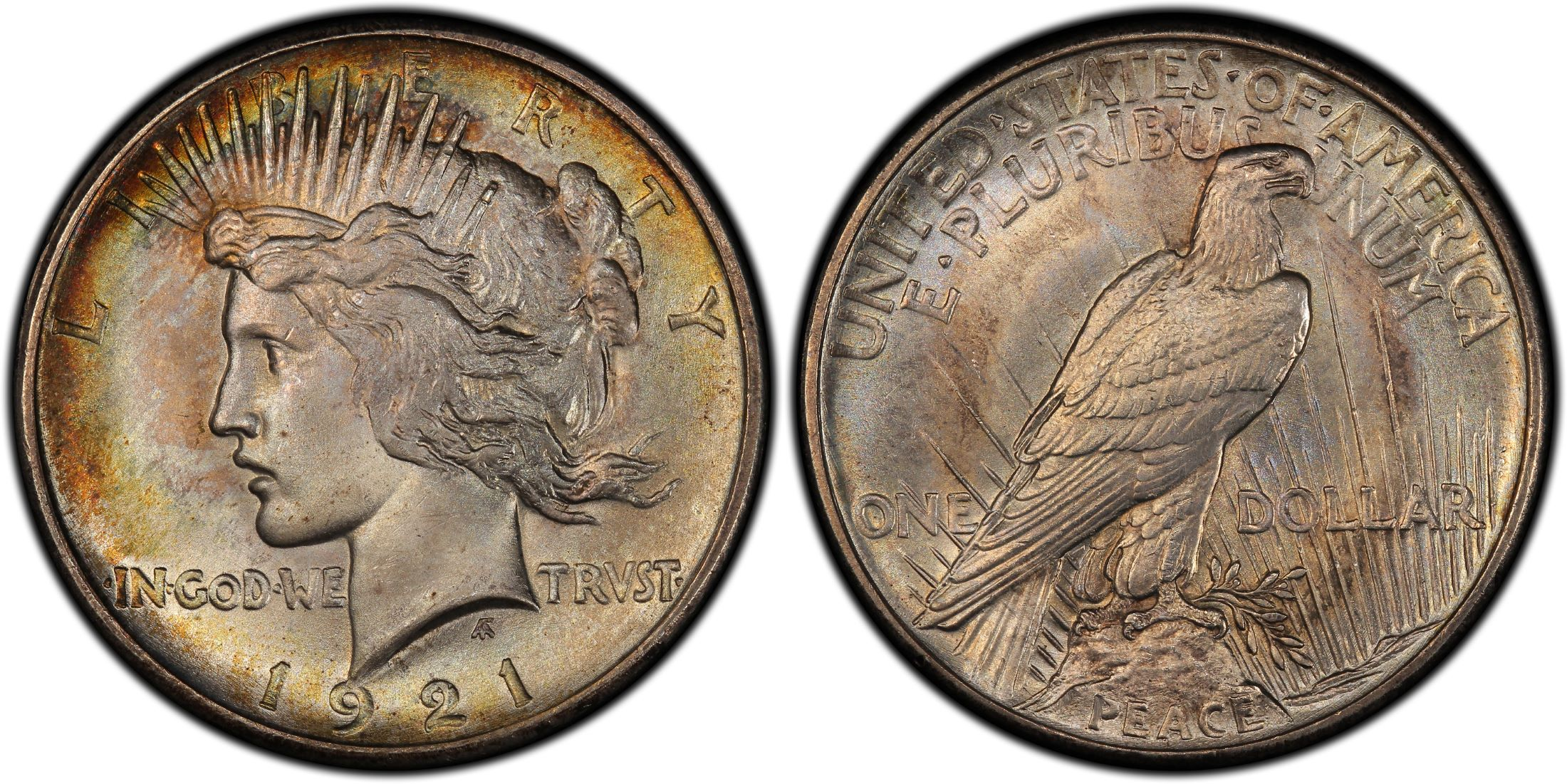 1921 1 High Relief Peace Regular Strike Pcgs Coinfacts