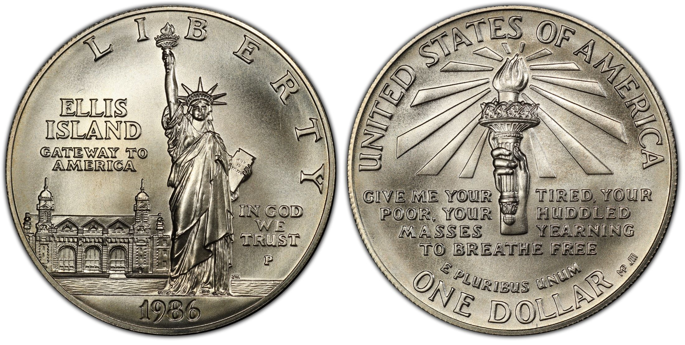 1986-P $1 Statue Of Liberty (Regular Strike) - PCGS CoinFacts