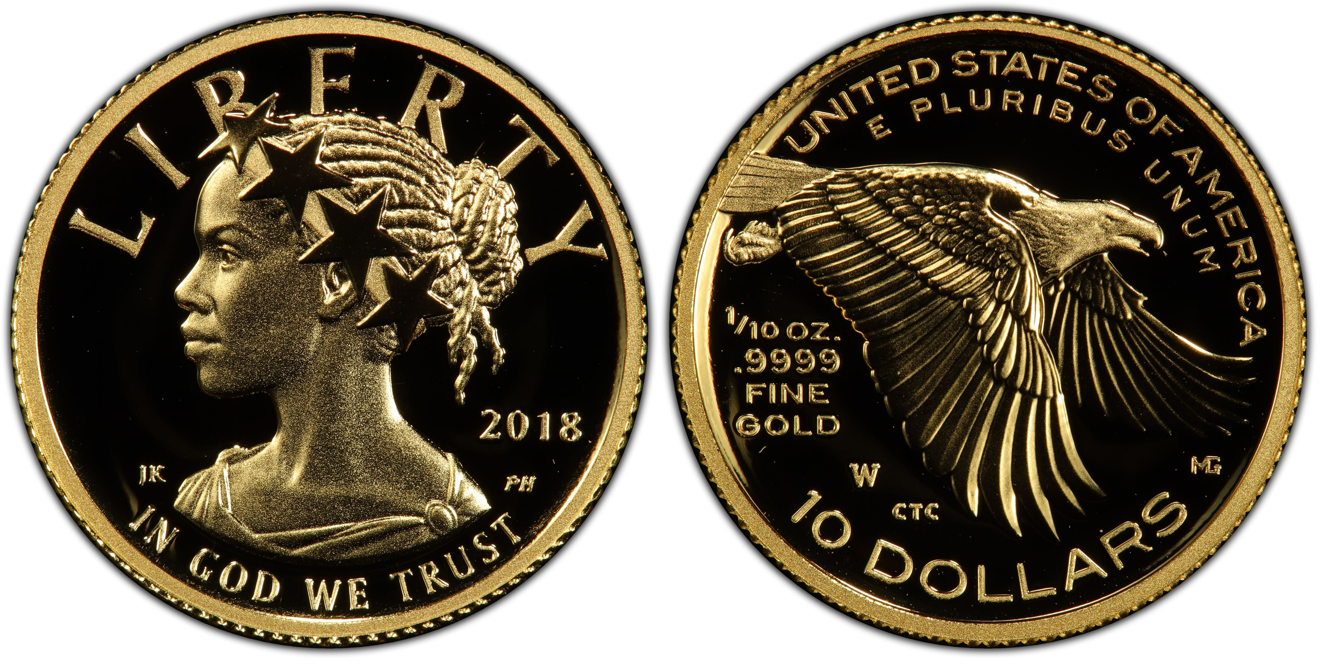2018-W $10 American Liberty High Relief, DC (Proof) - PCGS CoinFacts