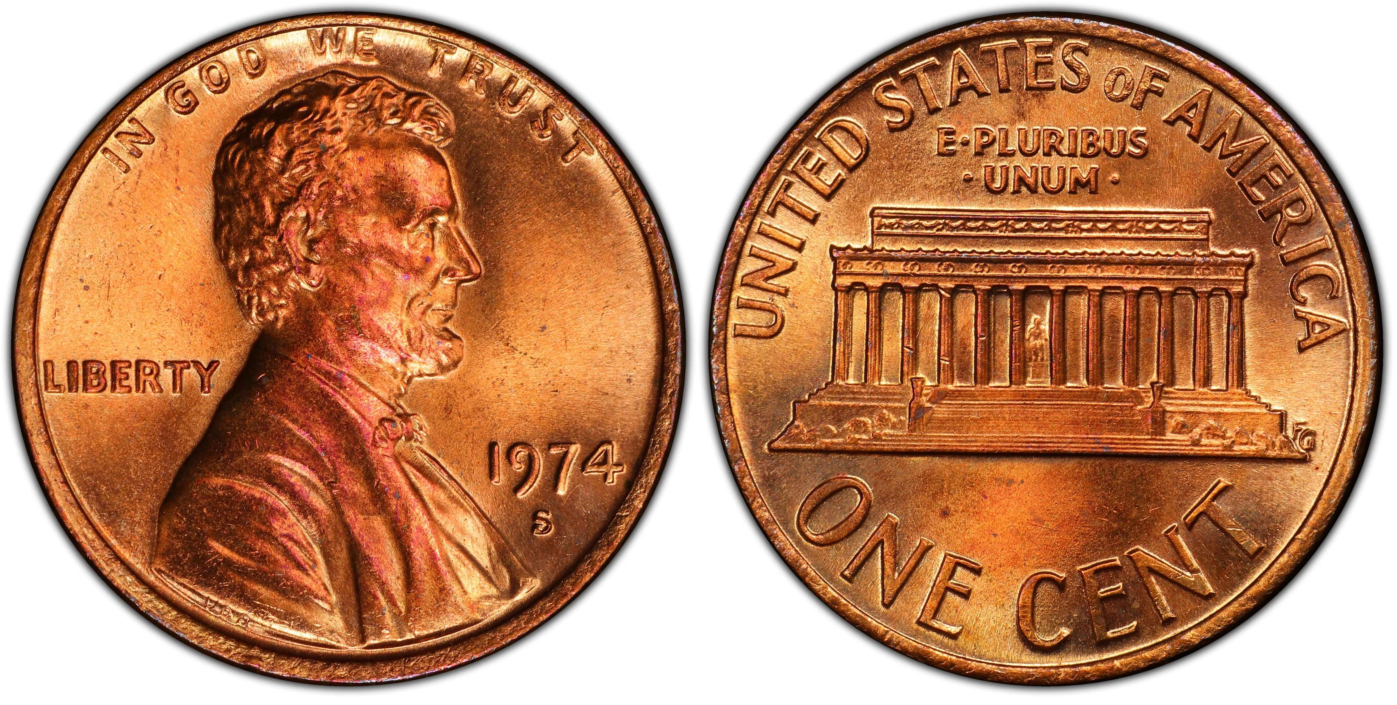 1974-S 1C, RD (Regular Strike) - PCGS CoinFacts