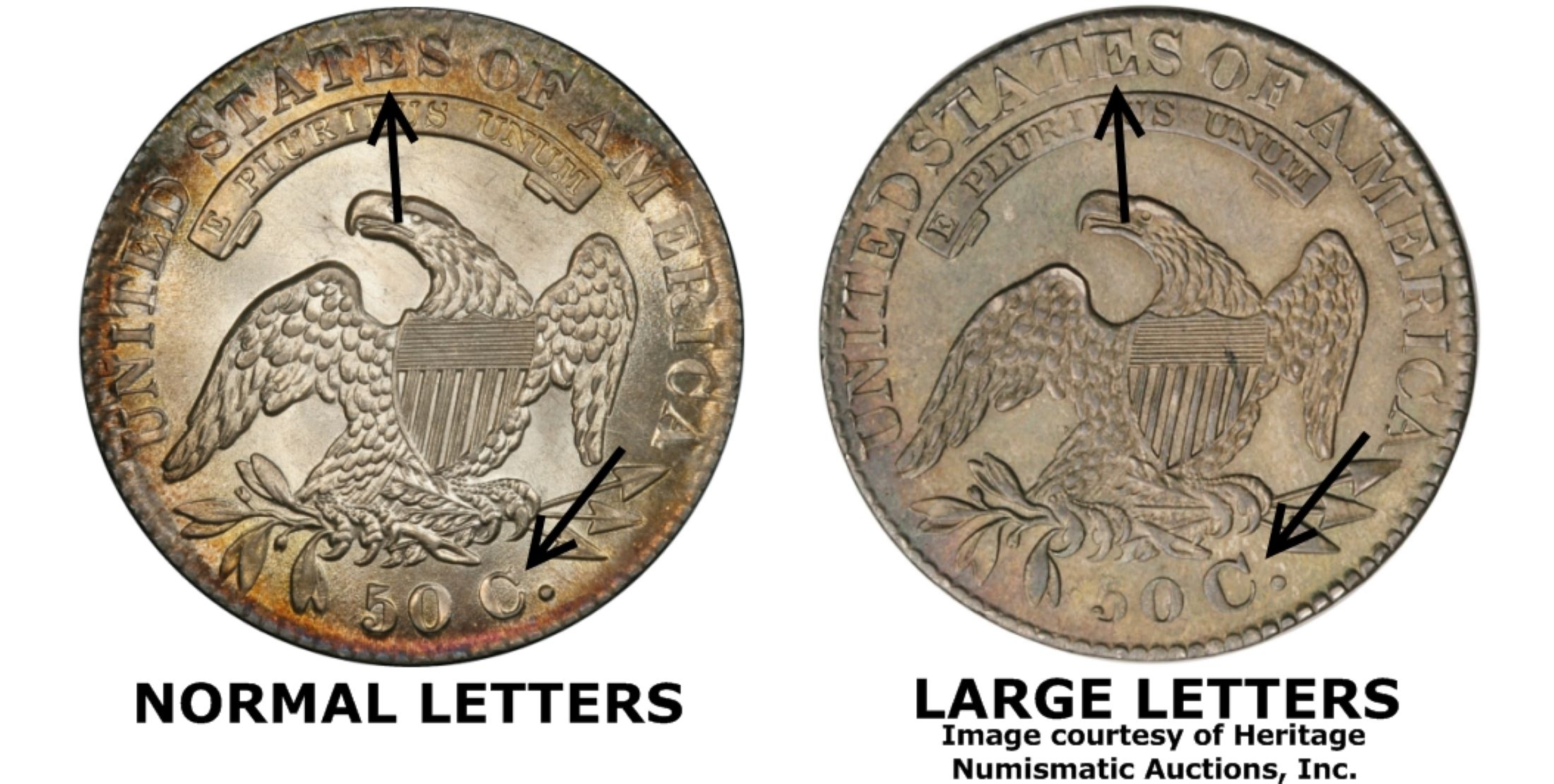 Bronze Letters For Sale 1830 50C Large Letters Regular Strike  Pcgs Coinfacts