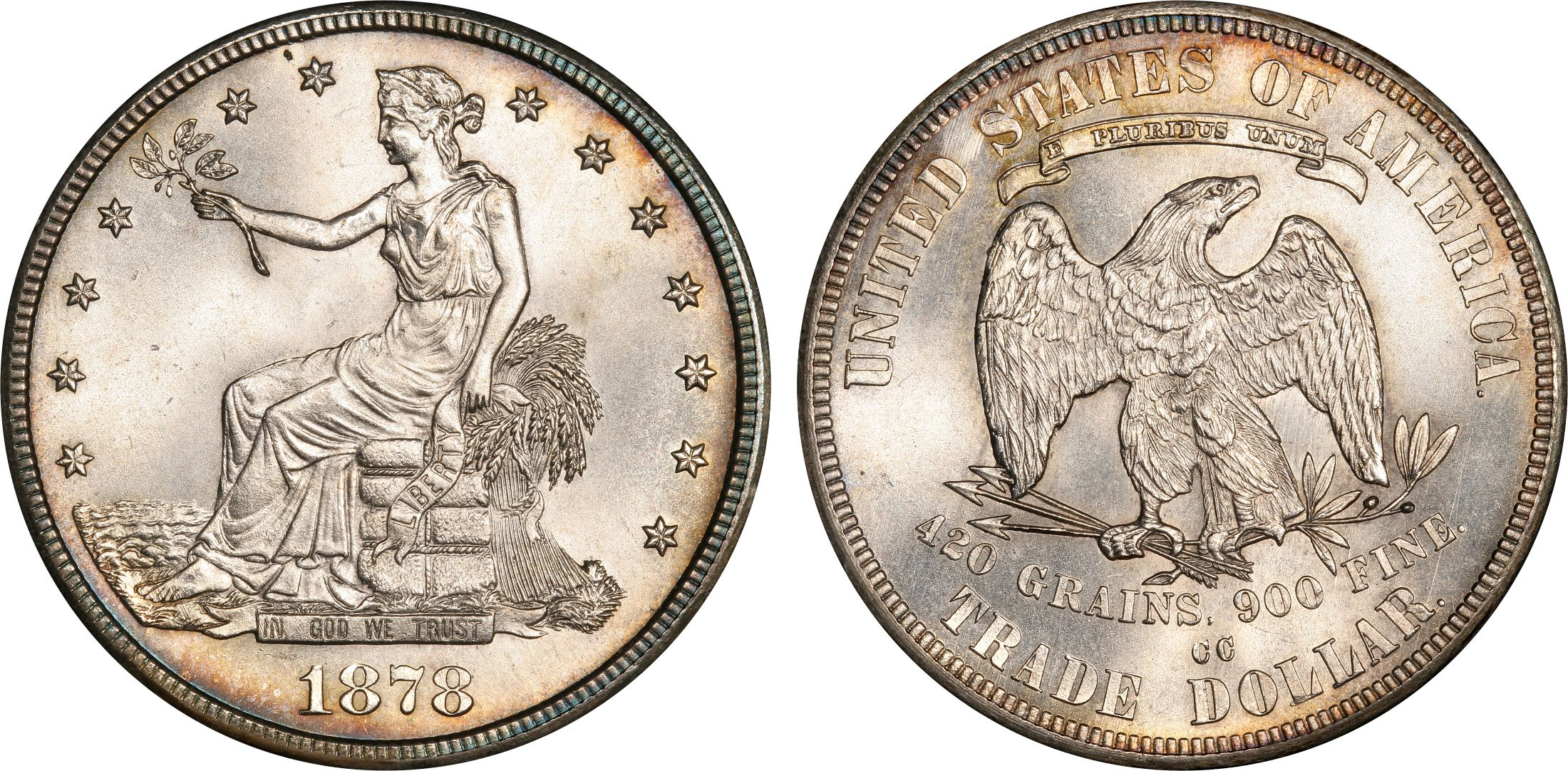 1878 CC T 1 Trade Regular Strike PCGS CoinFacts