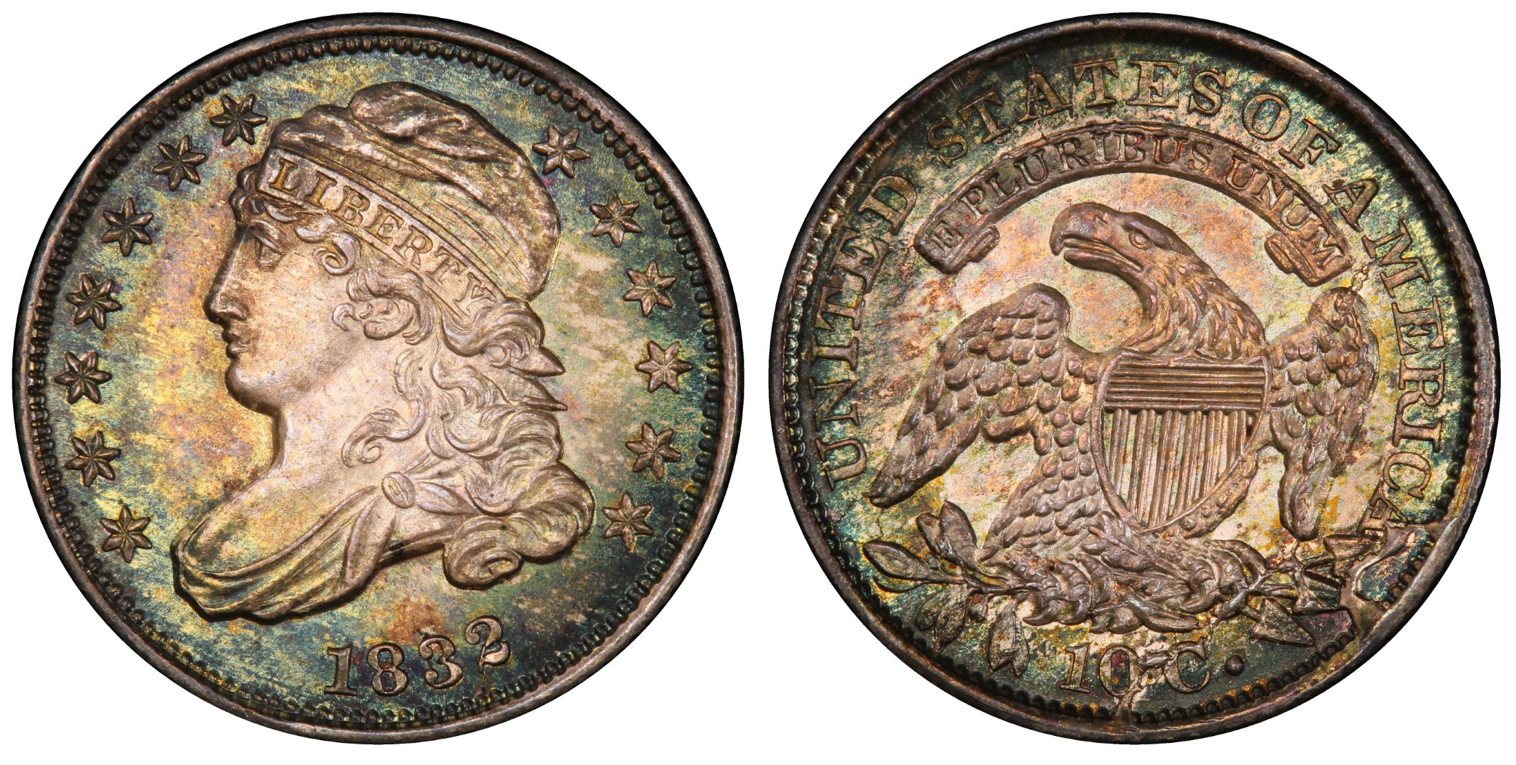 1832 10c Regular Strike Pcgs Coinfacts