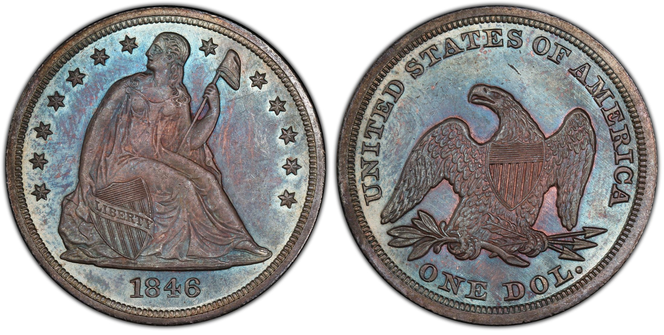 1846 1 Regular Strike Pcgs Coinfacts