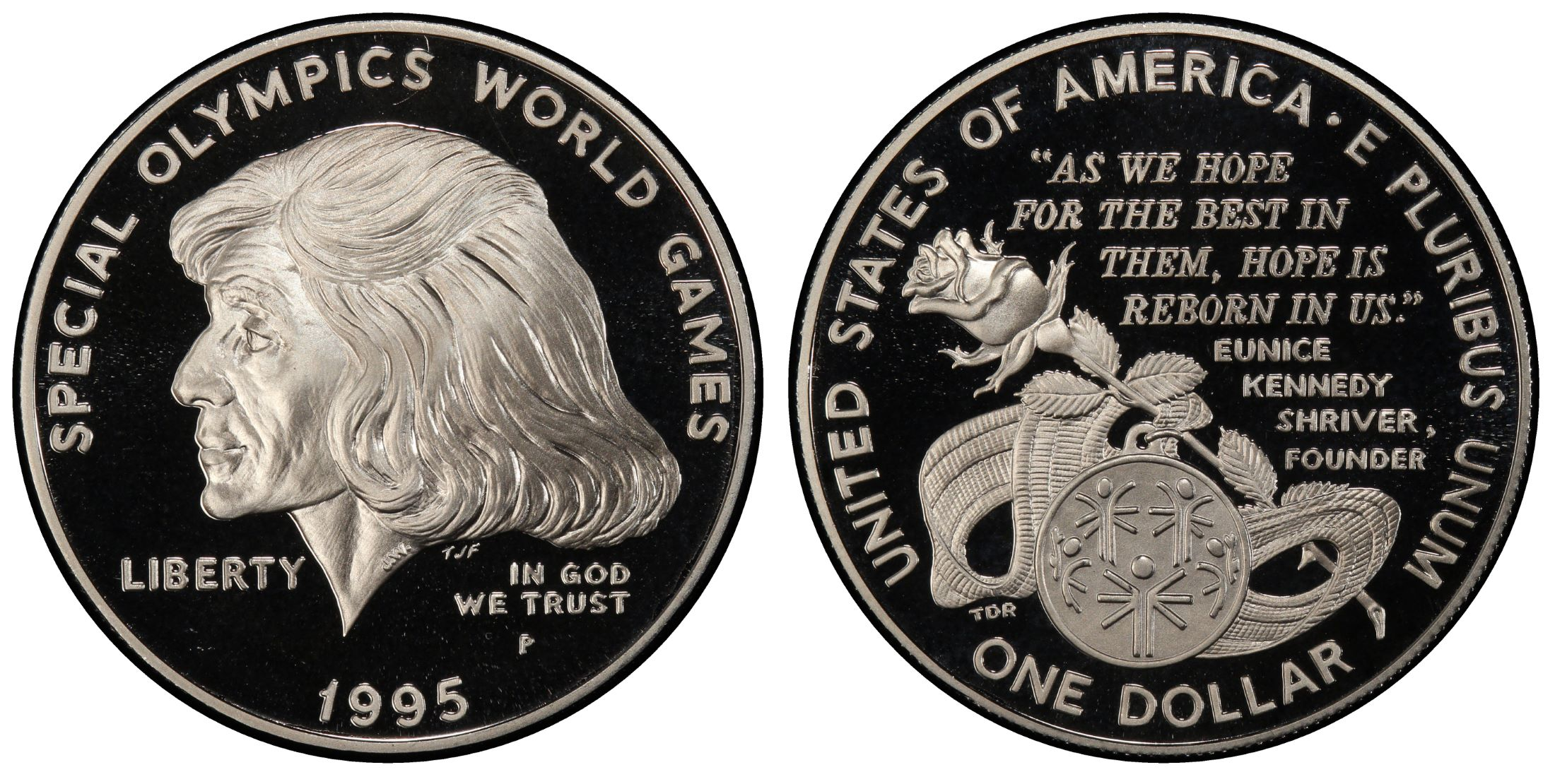 Coin Only 1995 P Special Olympics Commemorative Proof Dollar