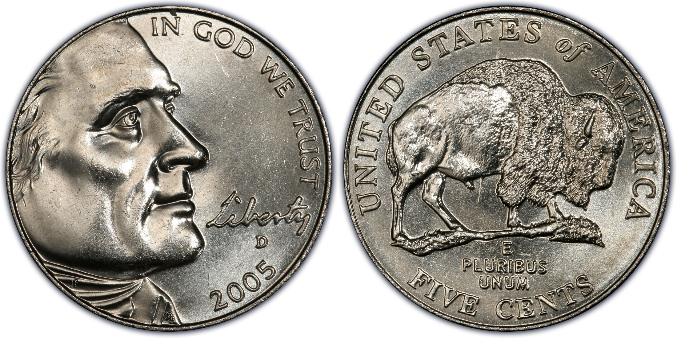 2005 D 5c Speared Bison Regular Strike Jefferson Nickel Pcgs Coinfacts