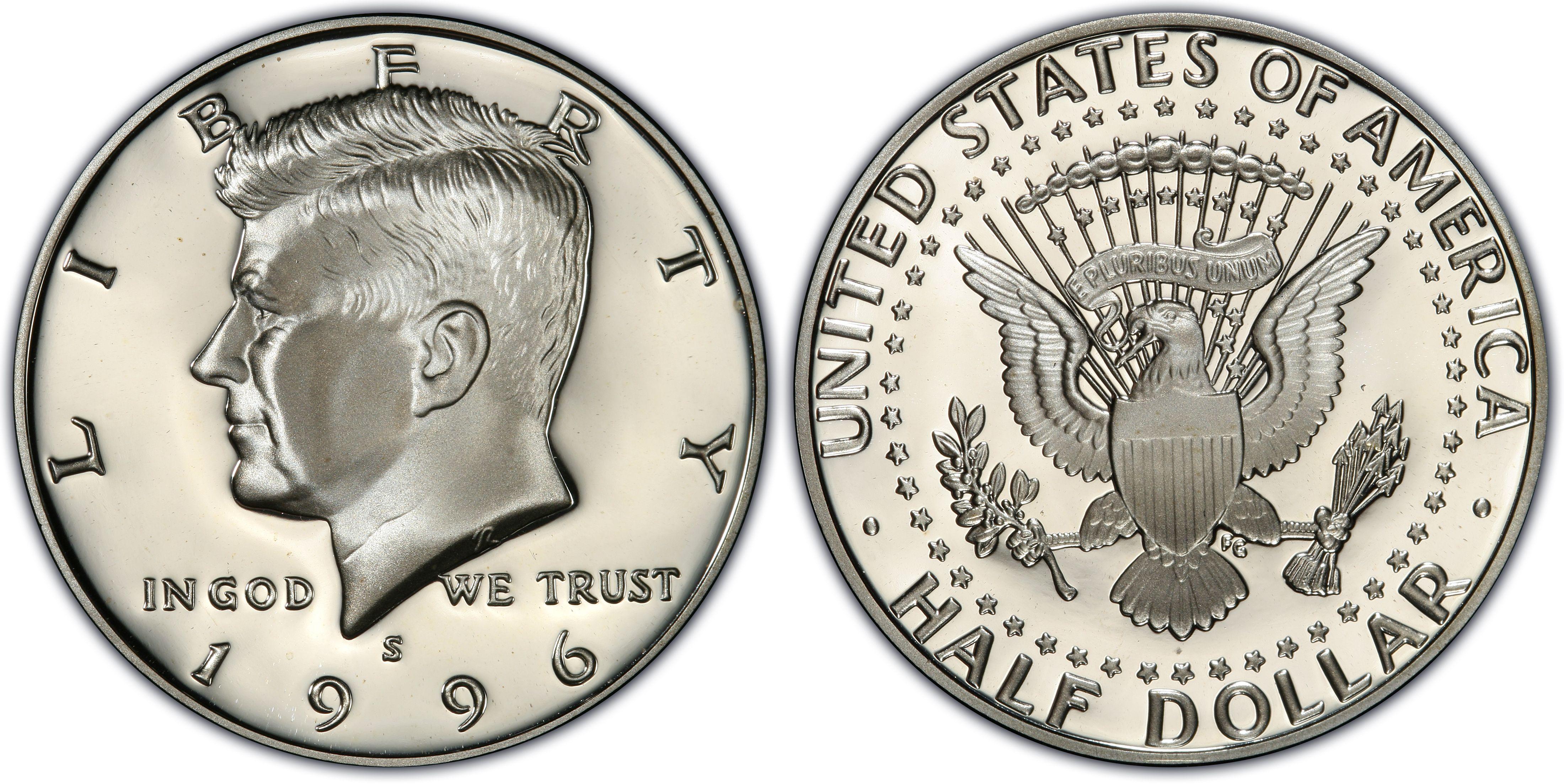 1996 half dollar coin