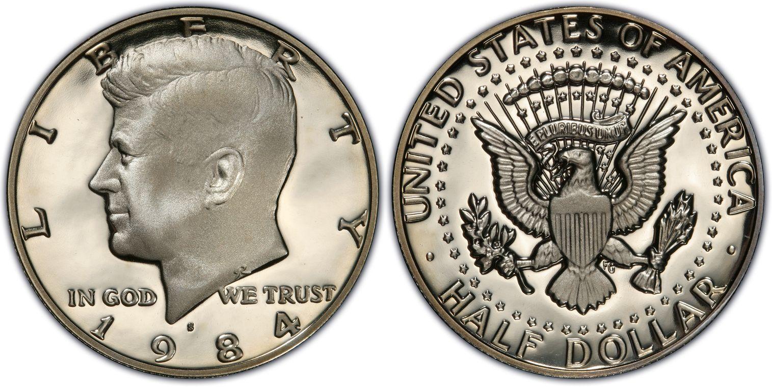 1984 S 50C Kennedy Half Dollar PCGS PR69DCAM