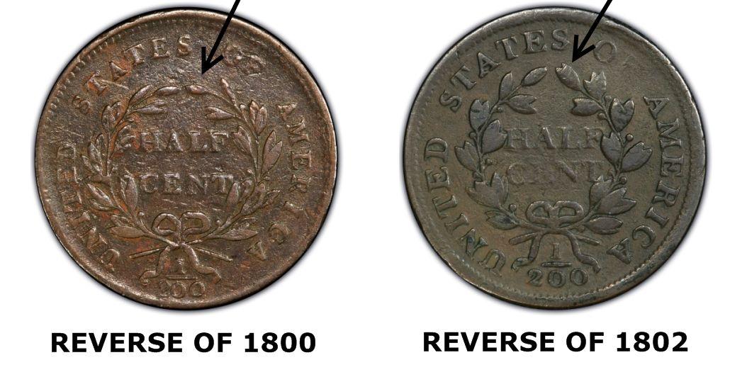 Comparison of 1802 1/2 Cent Reverses