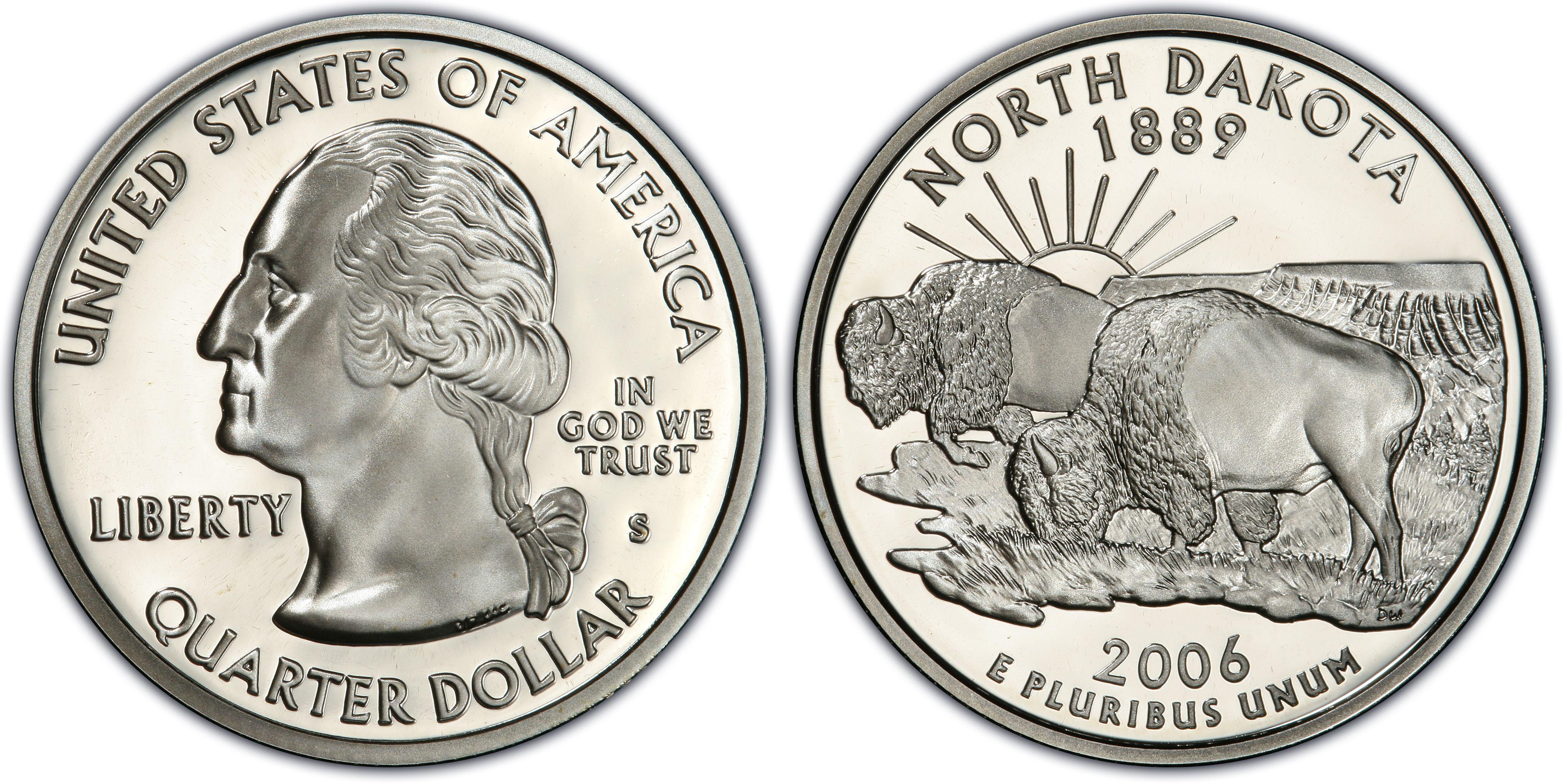 2006-S San Francisco Mint Proof South Dakota State Quarter