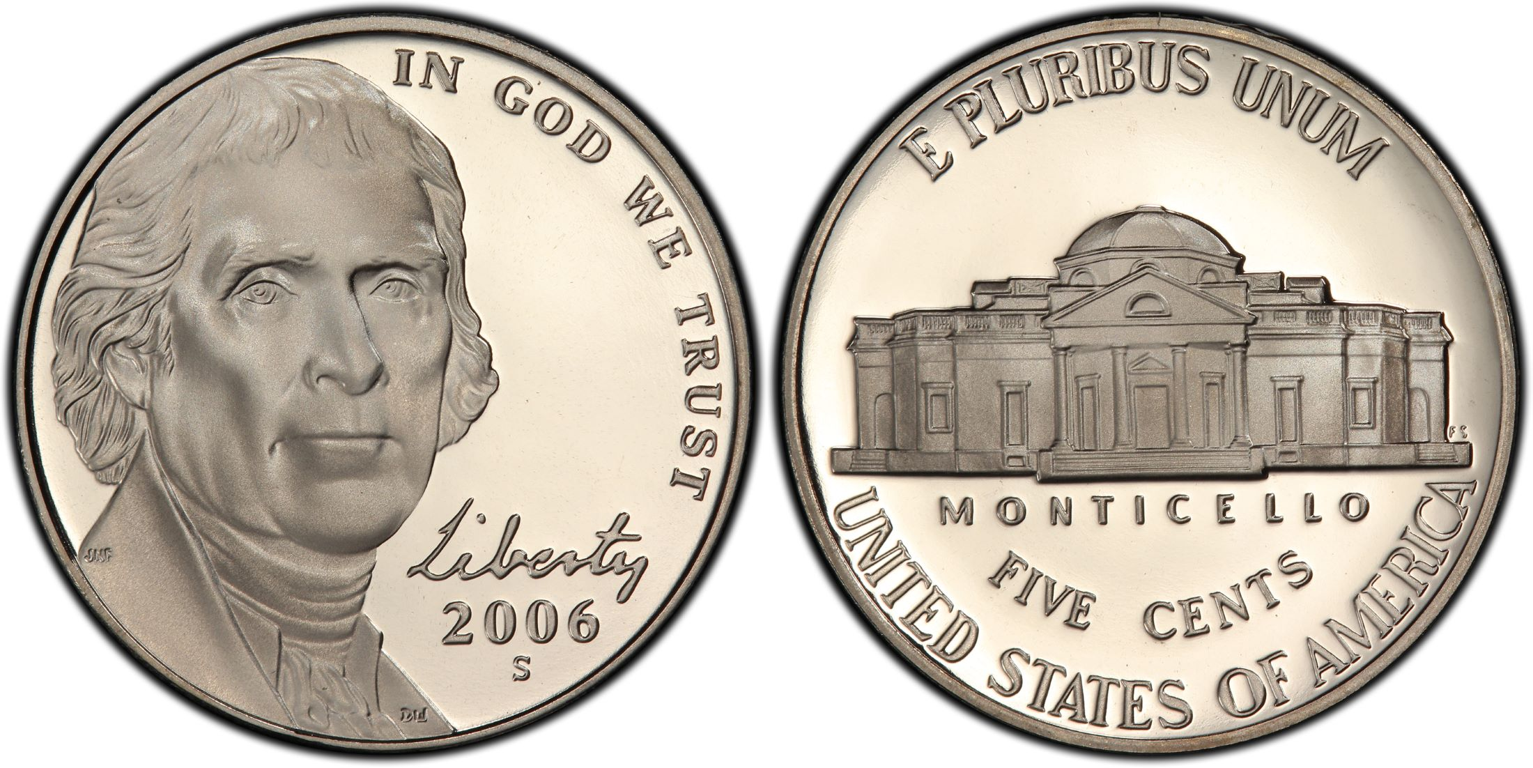 2006-S Jefferson Nickel Proof Return to Monticello Nice No Problem Coin