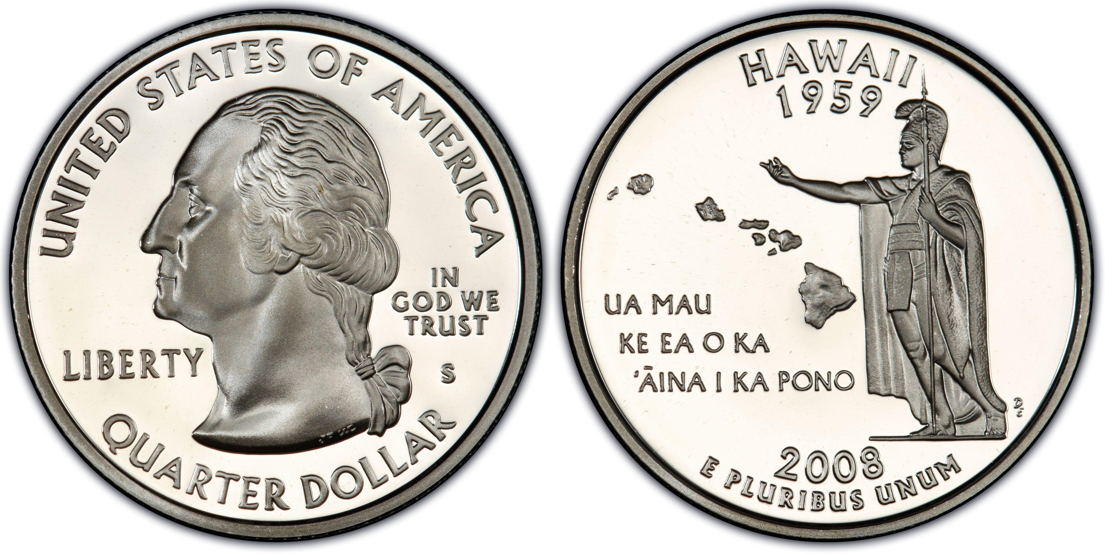 2008 Barack Obama PCGS Slabbed BU HAWAII QUARTER DOLLAR.