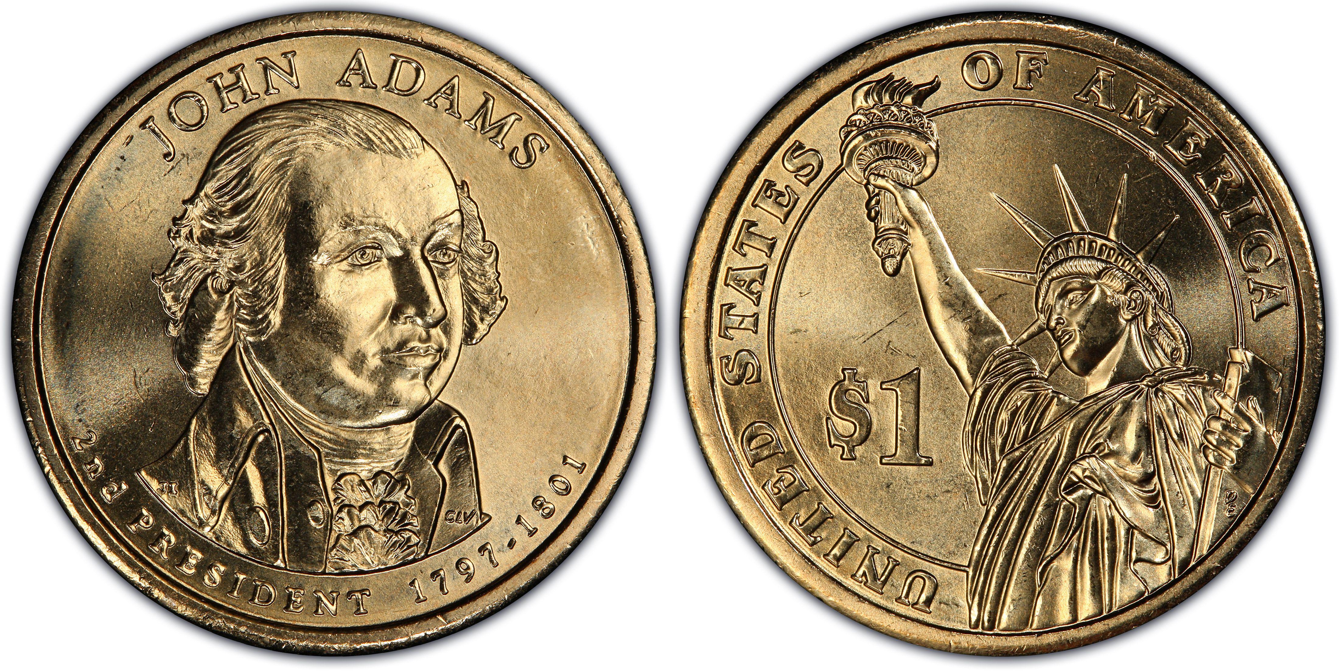 String 2007 John Adams Presidential $1 One Dollar Coin Rolls US Mint NEW N F