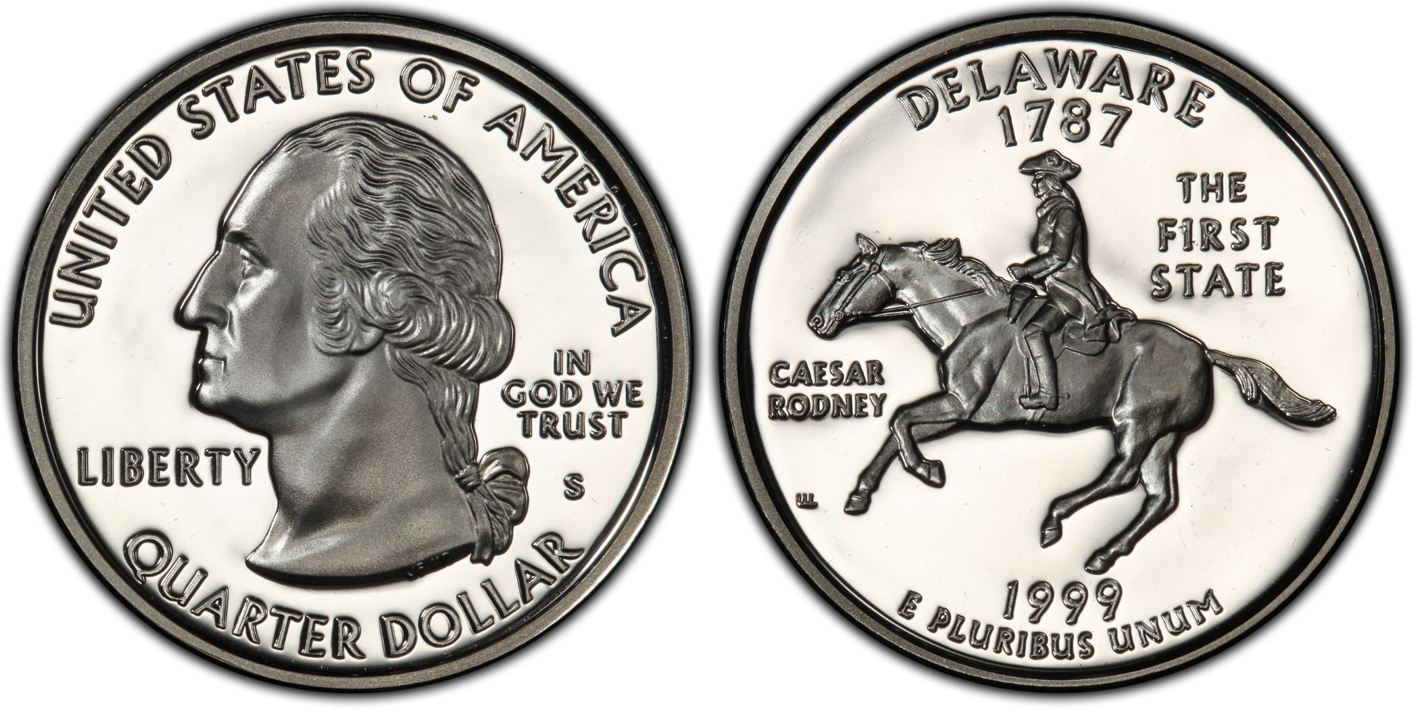 1999-S  Delaware Proof State Quarter Deep Cameo!