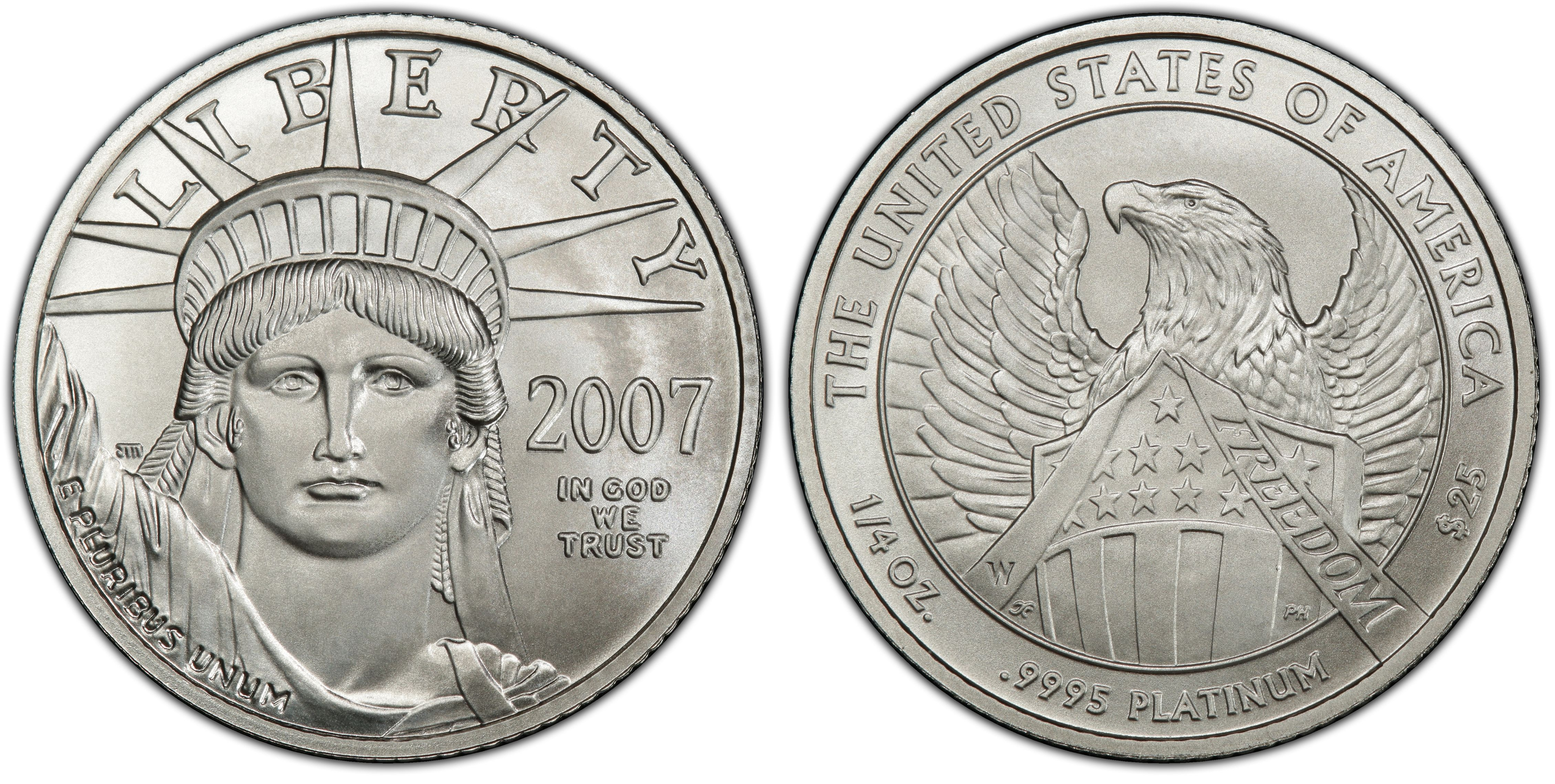 2007-W PCGS SP70 Burnished Silver Eagle 1 oz Coin