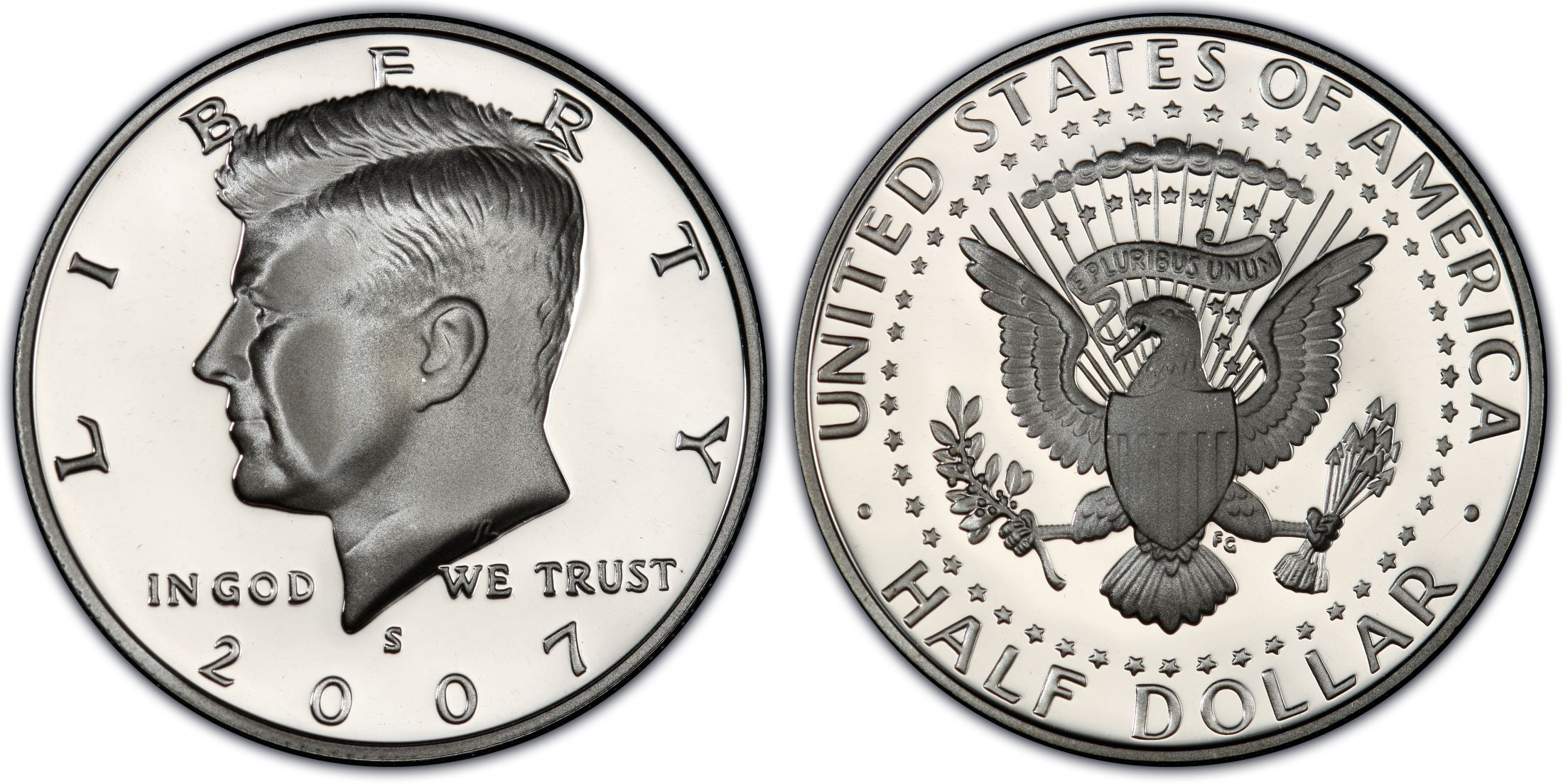 2007 S 50C Silver Kennedy Half Dollar PCGS PR69DCAM