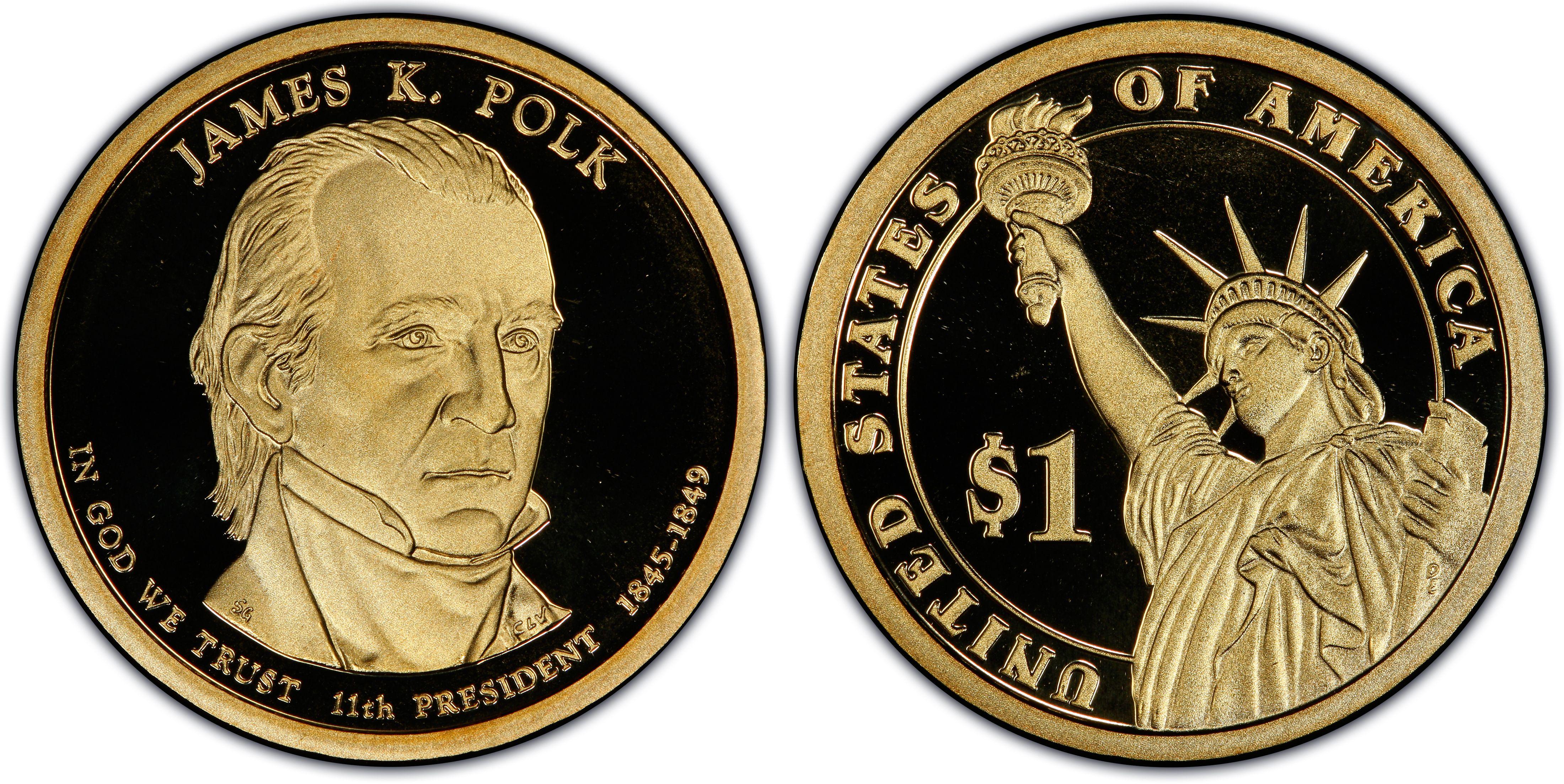 NGC 2009-S Proof JAMES K POLK 11th Presidential Dollar PR PF69 USA Mint $1 Coin