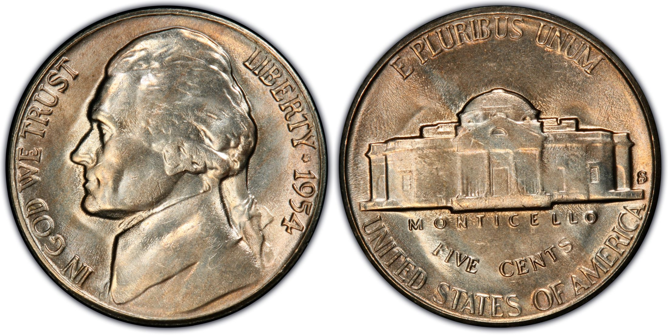 1954-S/D 5C (Regular Strike) Jefferson Nickel - PCGS CoinFacts