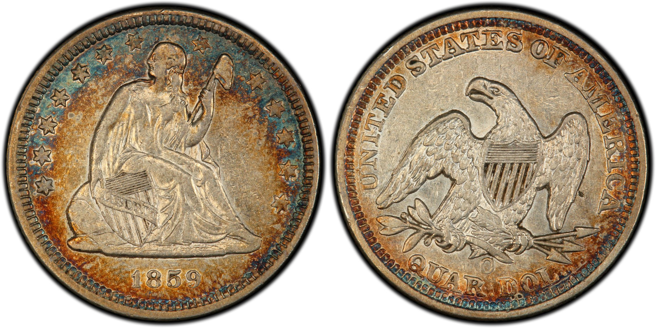 GFRC Open Set Registry - BIG BLUE 1859 Seated  25C