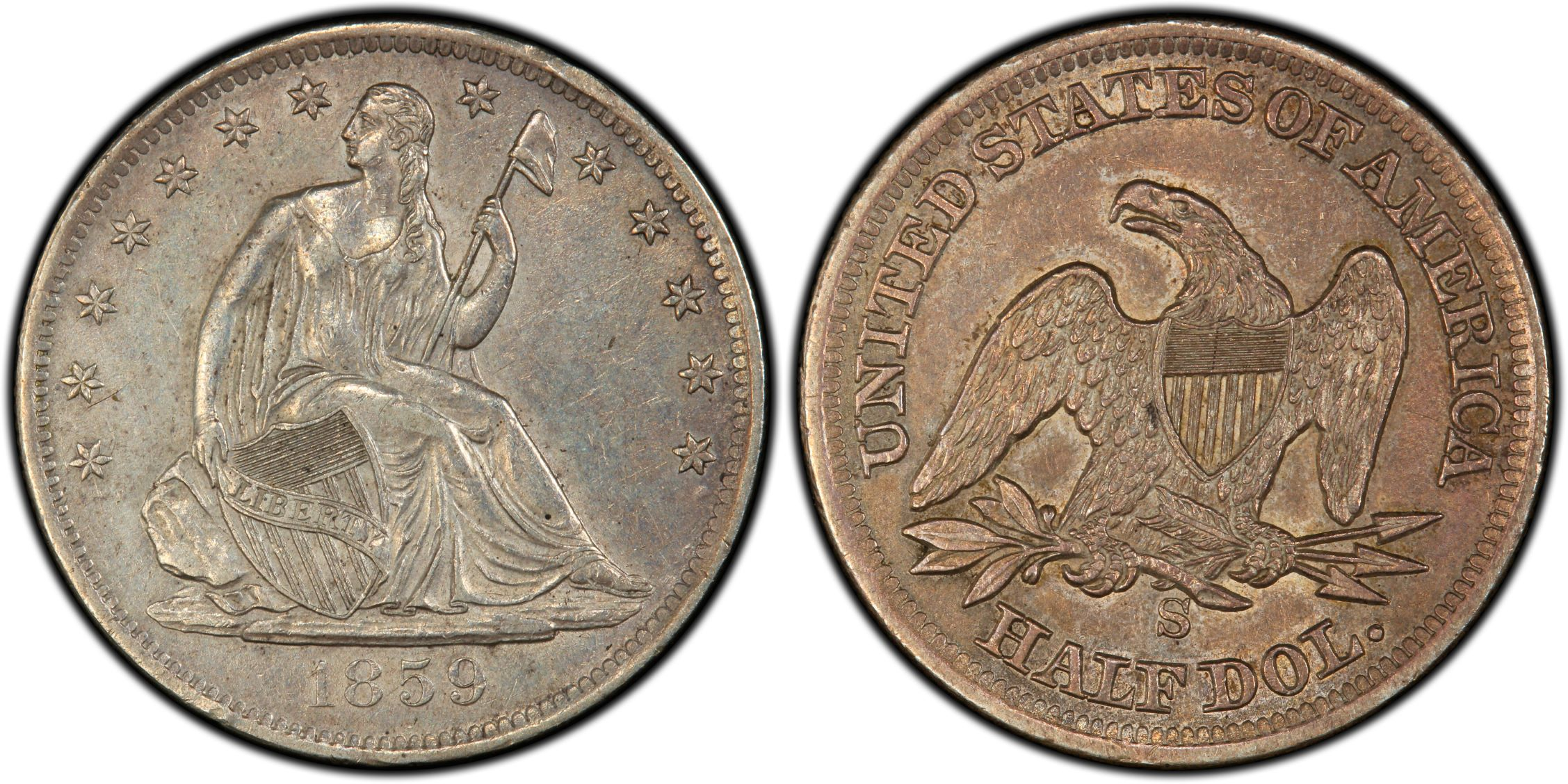 GFRC Open Set Registry - J B N 1859 Seated  50C