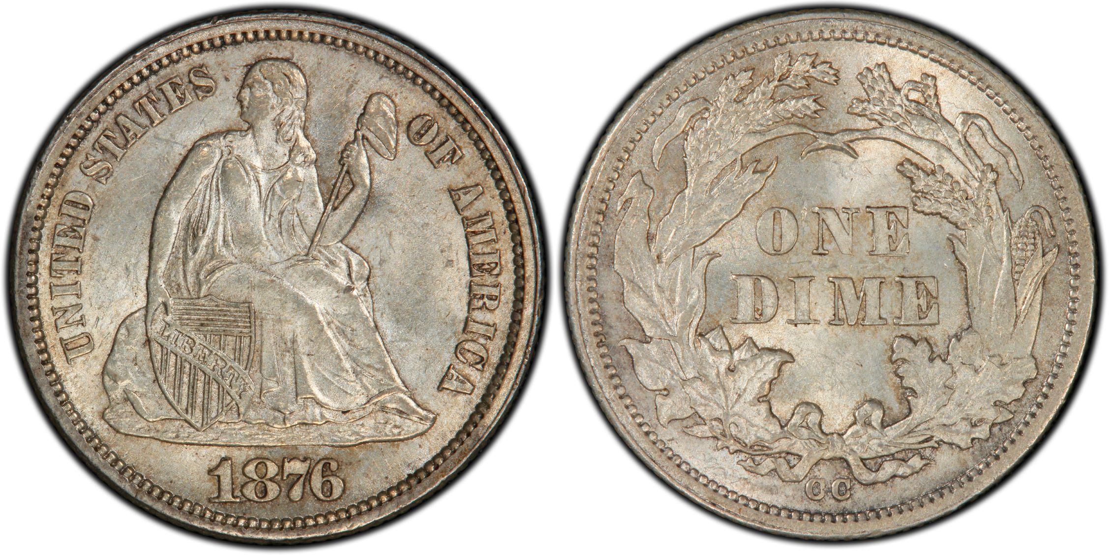 GFRC Open Set Registry - Coulombe Family 1876 Seated  10C