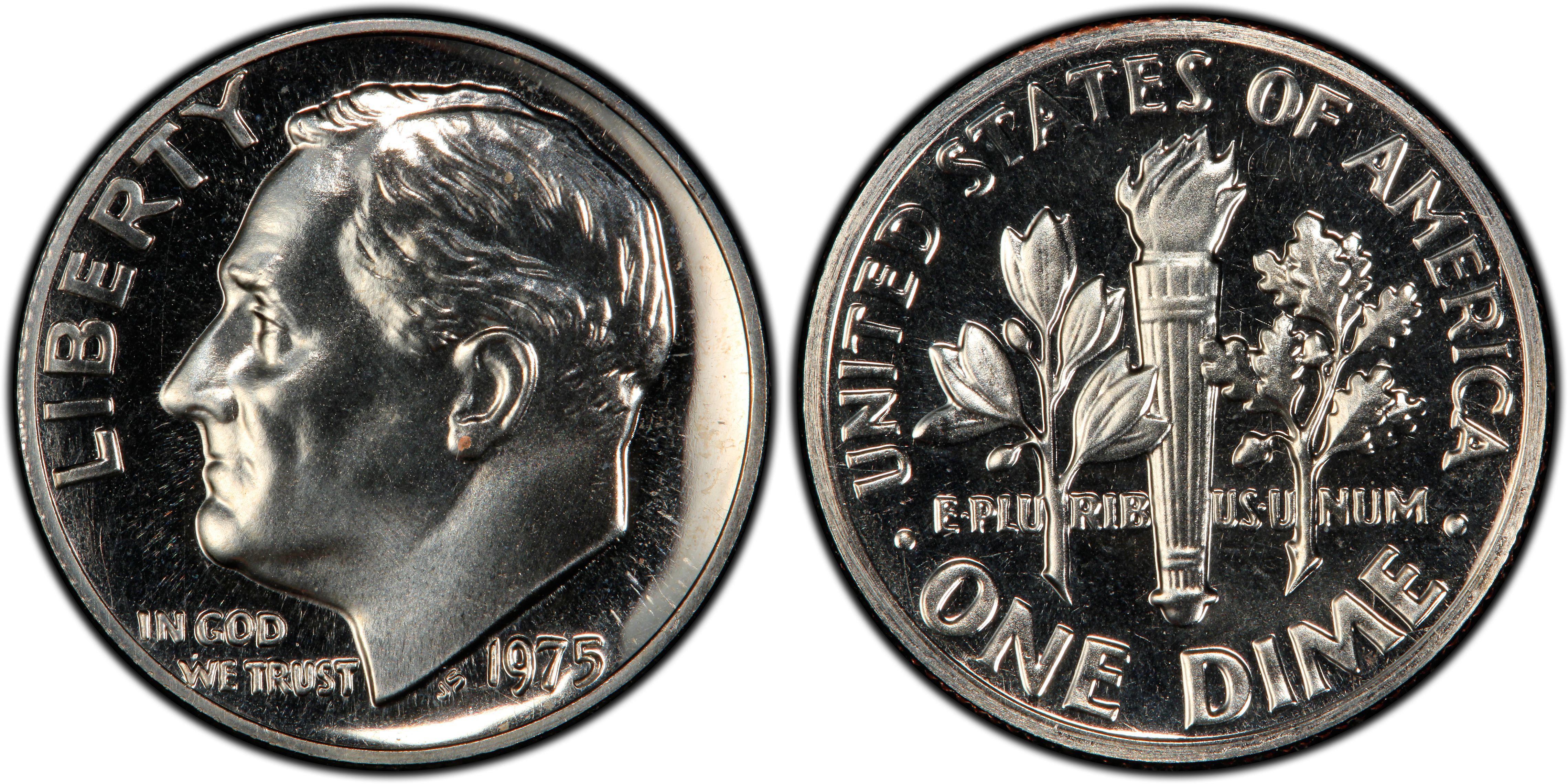 1975 S Roosevelt Dime Proof