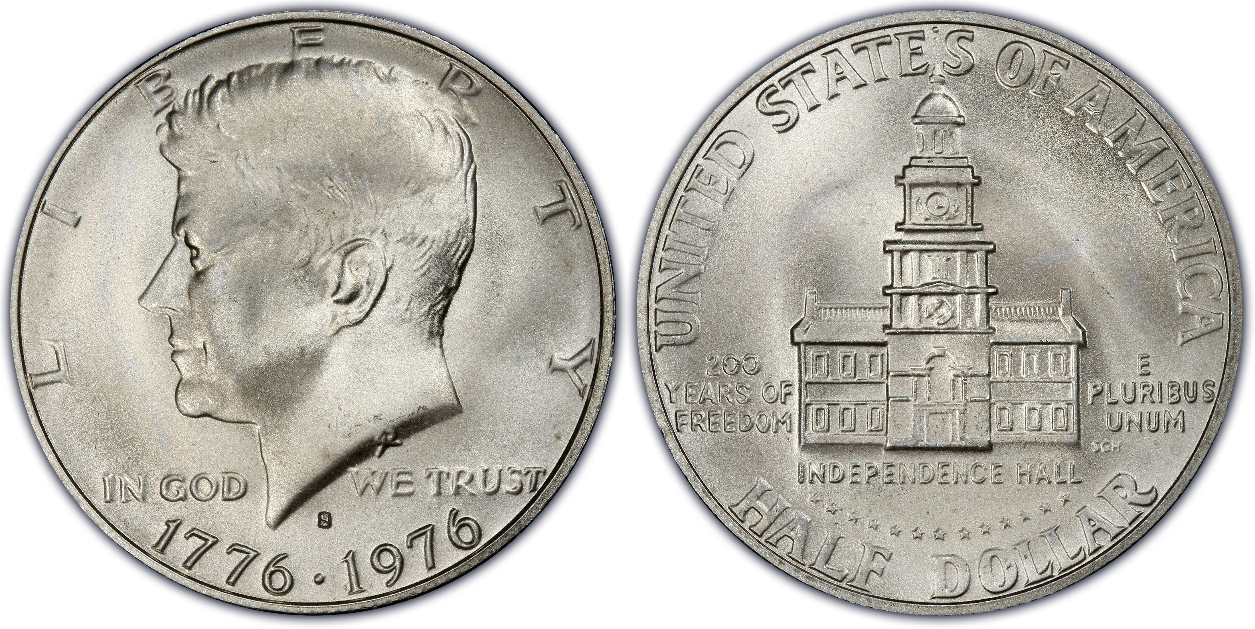 1976 S 50c Silver Regular Strike Kennedy Half Dollar