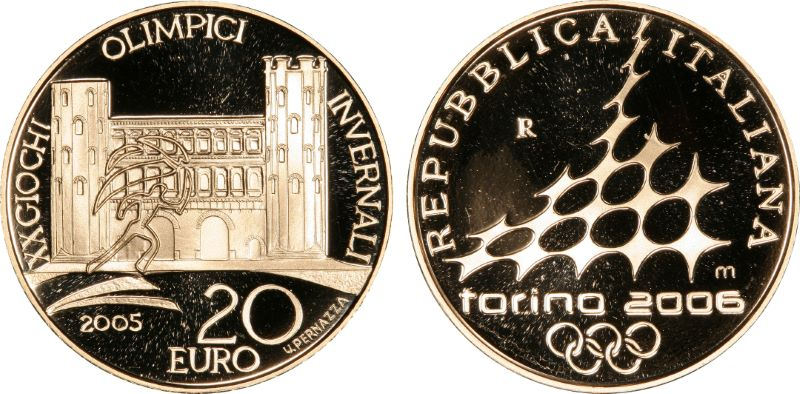 Pcgs set registry collectors showcase 2006 torino olympic 1 for Coin torino
