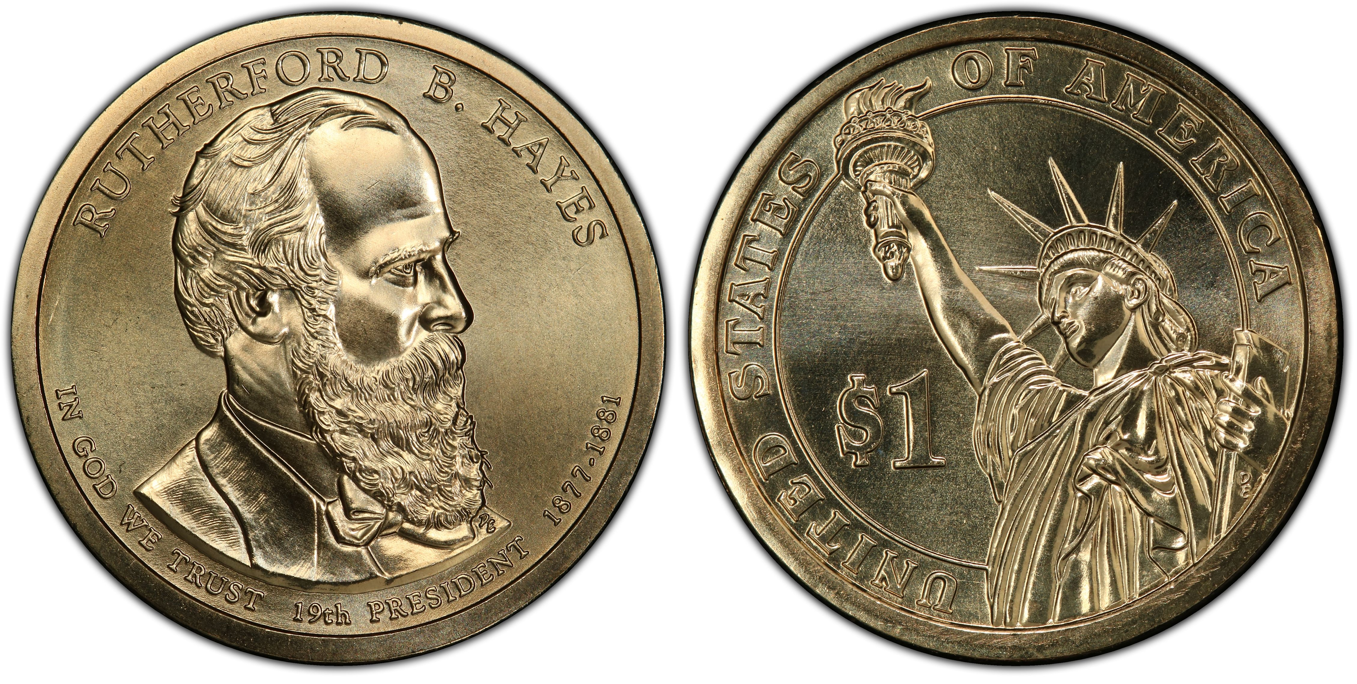 Hayes Presidential Dollar ~ Pos A from Mint Set 2011 P Rutherford B