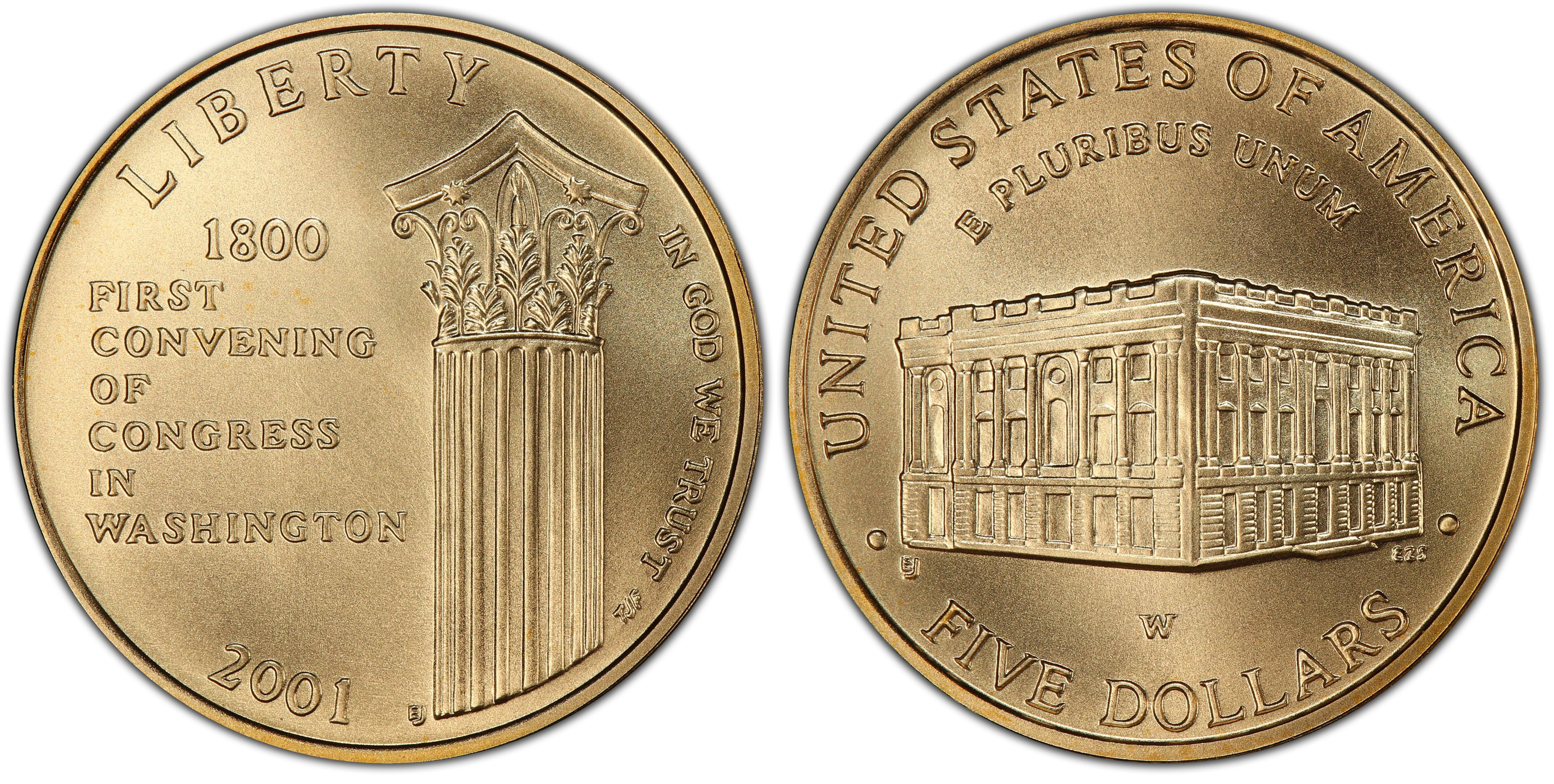 Coins & Paper Money 2001 US Capitol Visitor Center 90% Silver ...