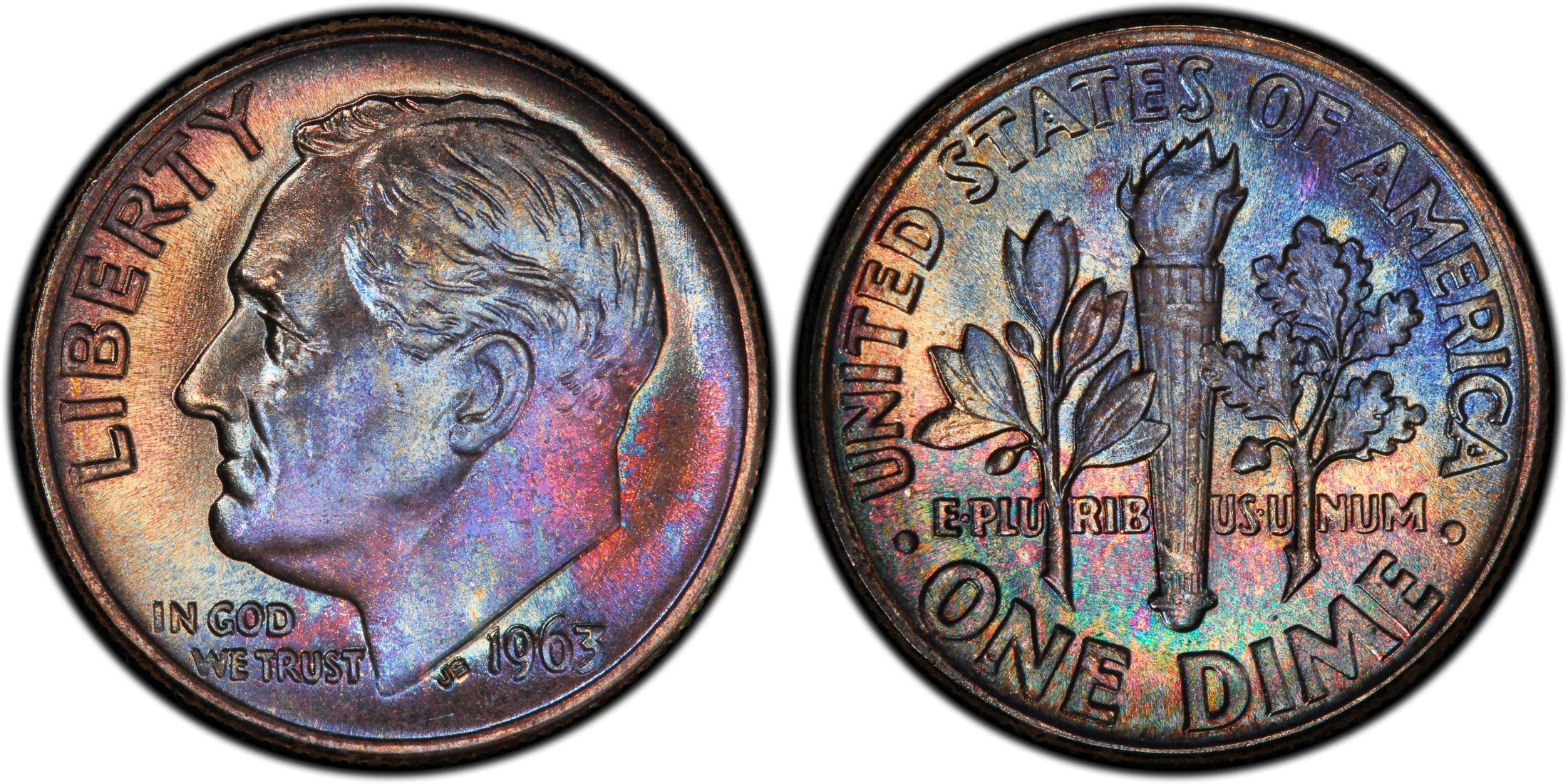 1987-S PCGS PR-70-DCAM proof Roosevelt dime deep cameo PERFECT