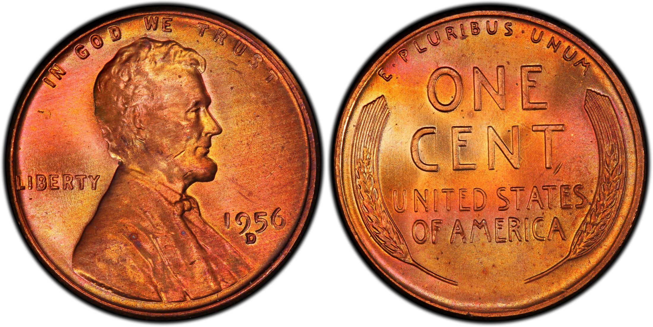 1956-D//D Lincoln Cent RPM FS-501 MS66RD PCGS