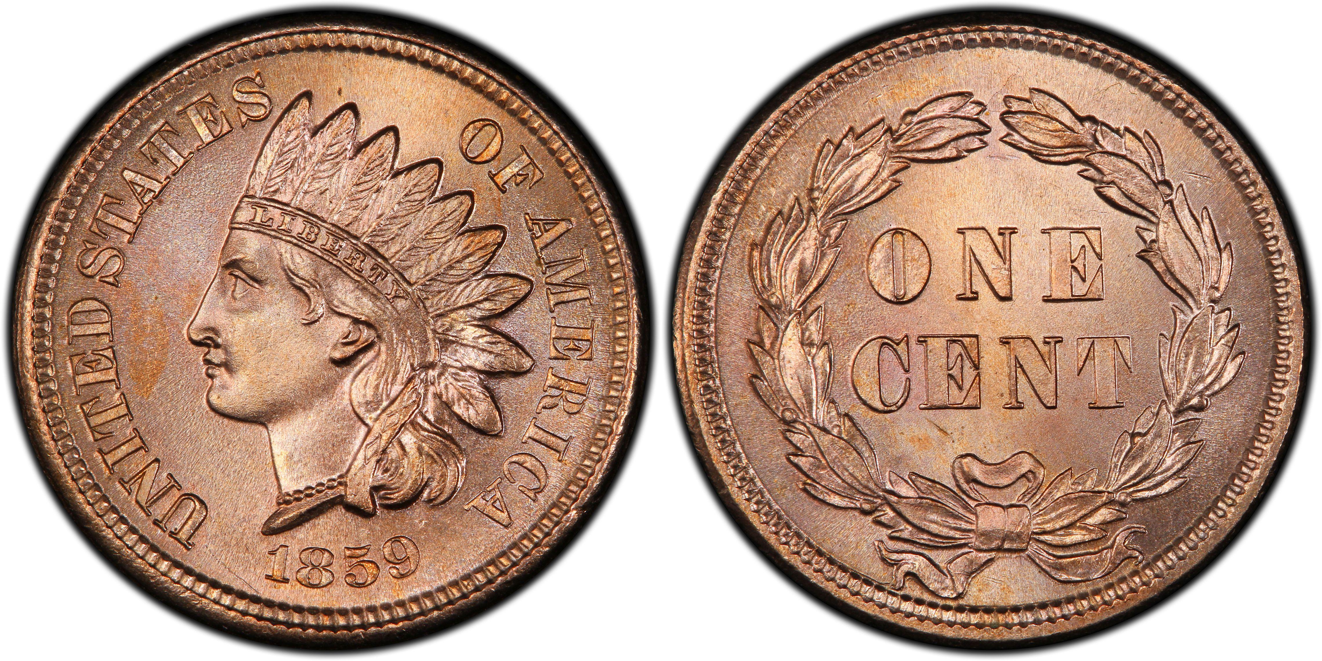 1859 Indian Head Copper Nickel Cent Various Grades