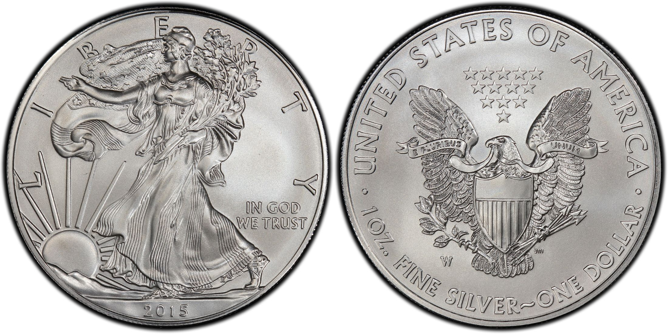 2015 W BURNISHED SILVER EAGLE PCGS SP70 FLAG MERCANTI FIRST DAY OF ISSUE Phila