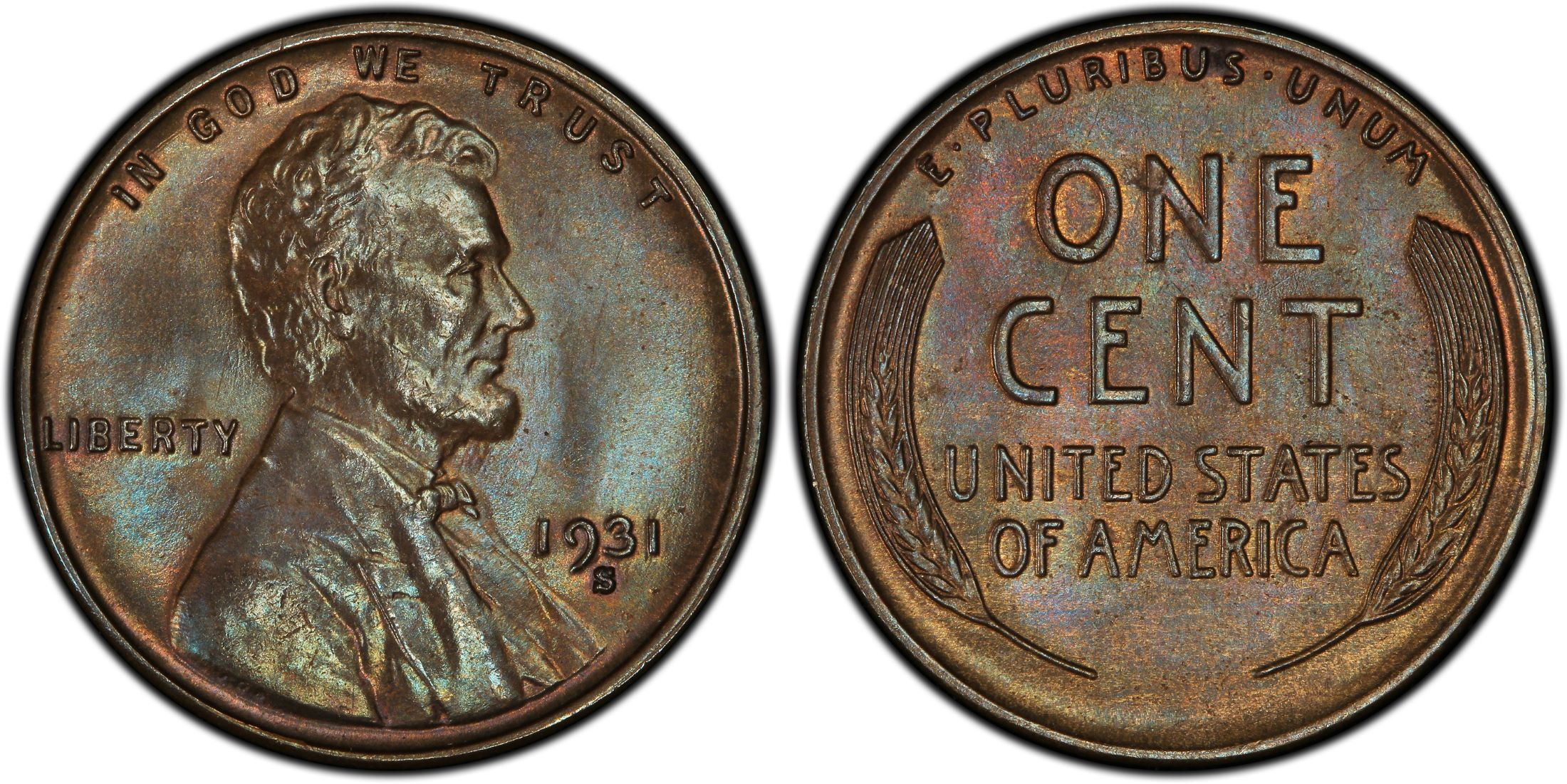 1931 Lincoln Cent MS64BN PCGS Mint State 64 Brown