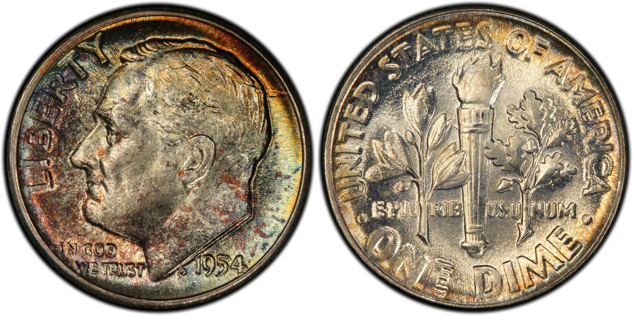 Average Grade of Coin You Will Receive is Photographed 1954-d Roosevelt  Dime