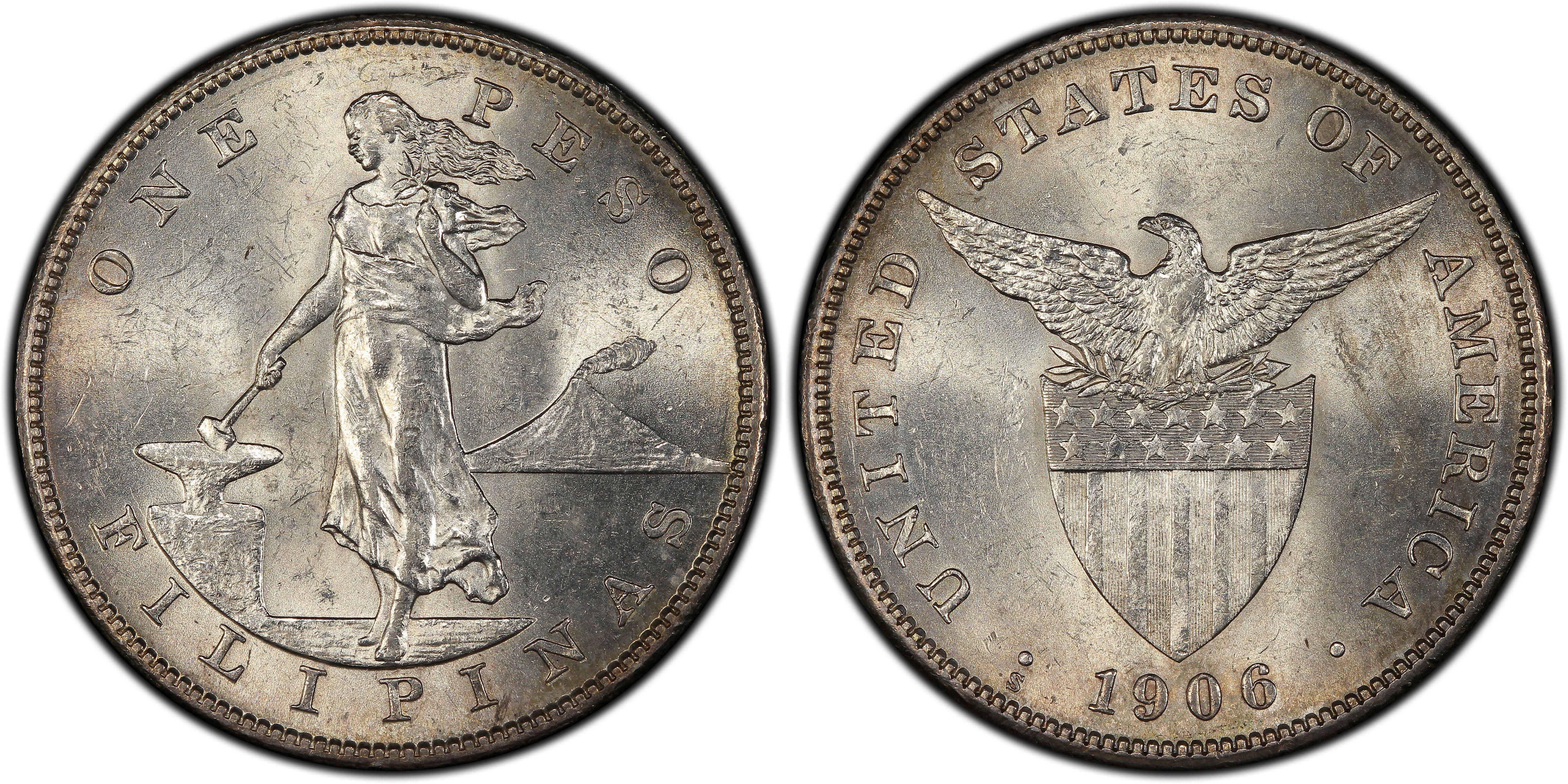 1906 S Peso Regular Strike U